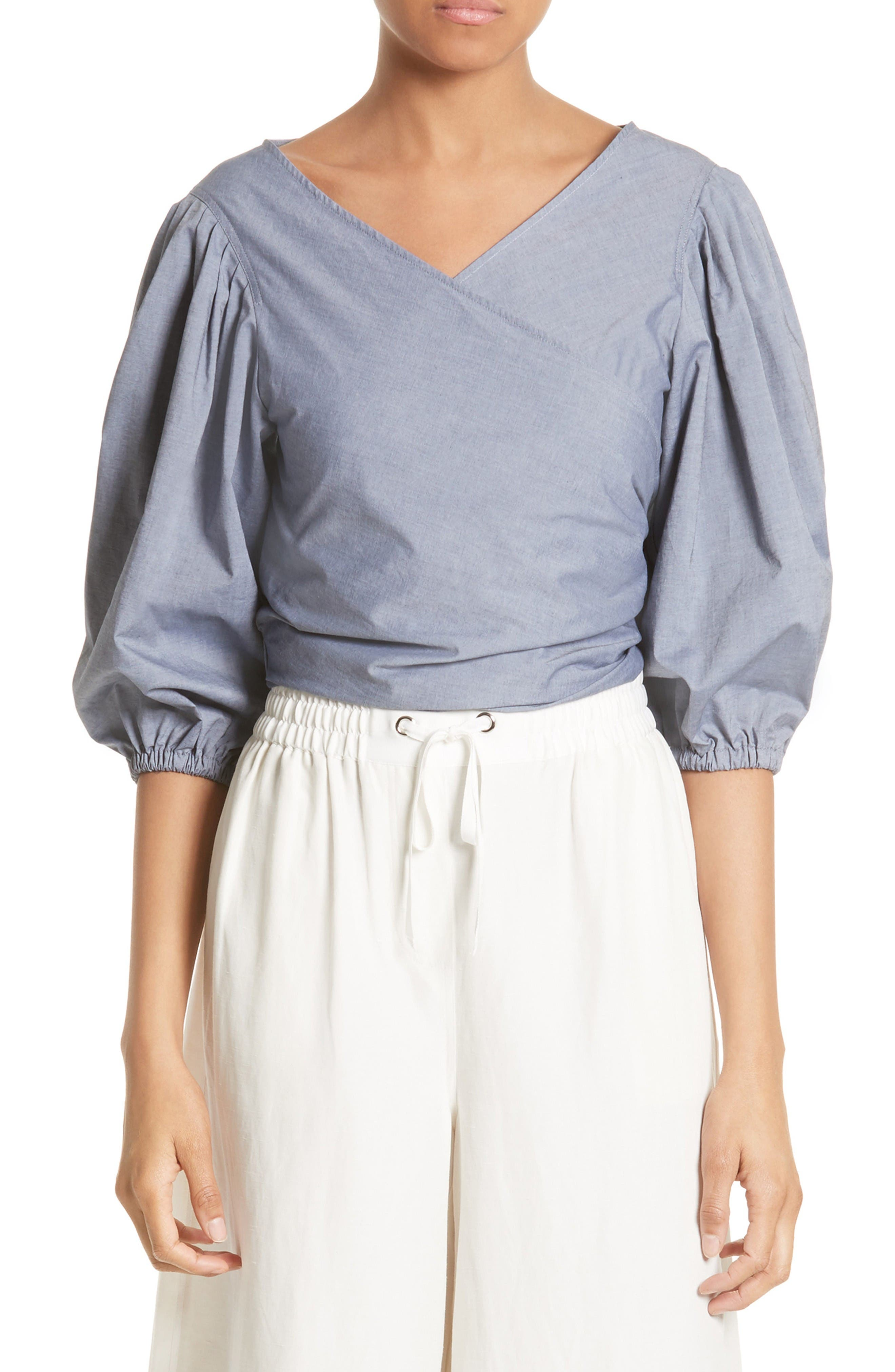 Elizabeth and James Farrah Blouson Wrap Top