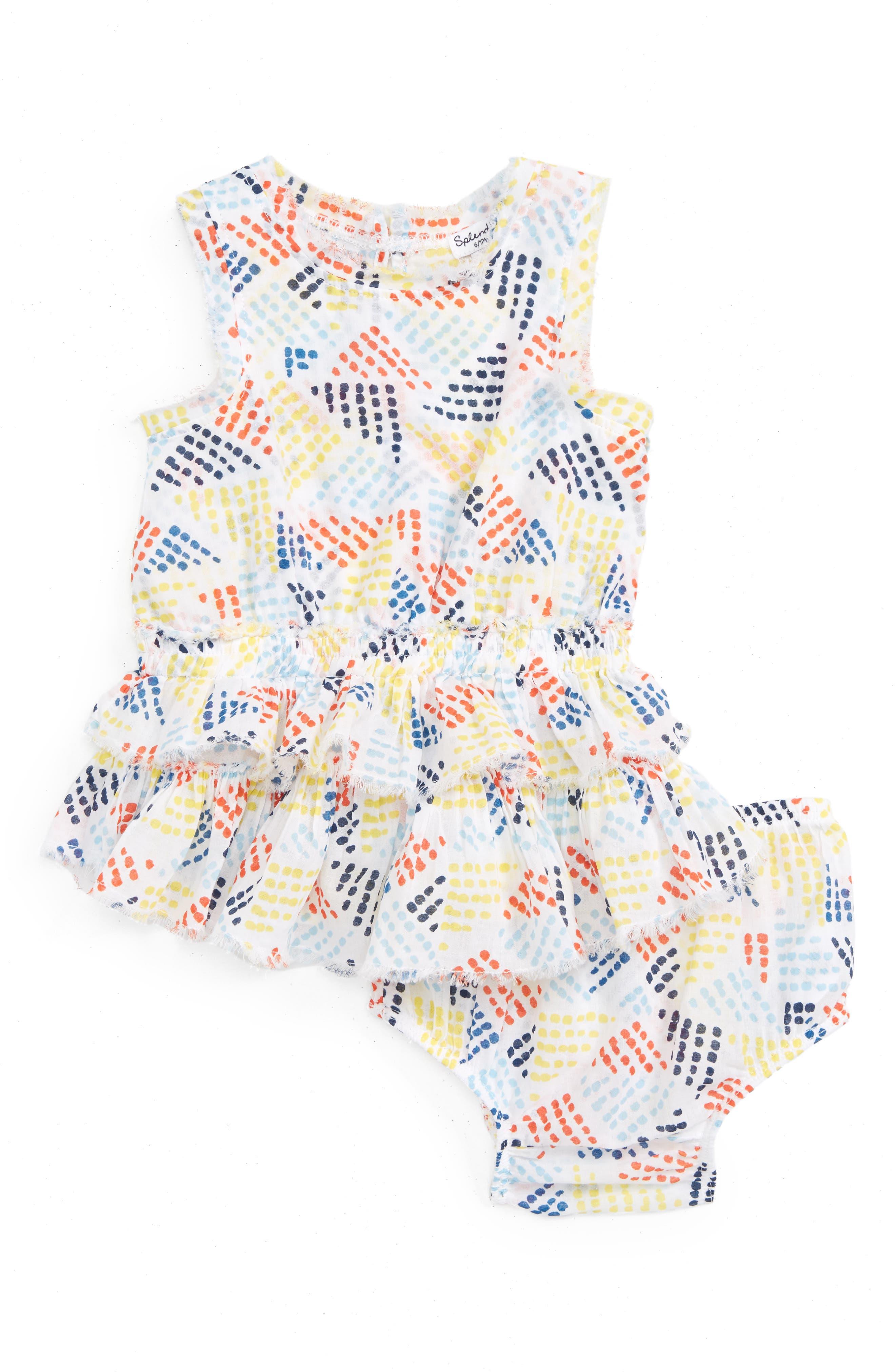 Splendid Geo Dot Print Sundress (Baby Girls)