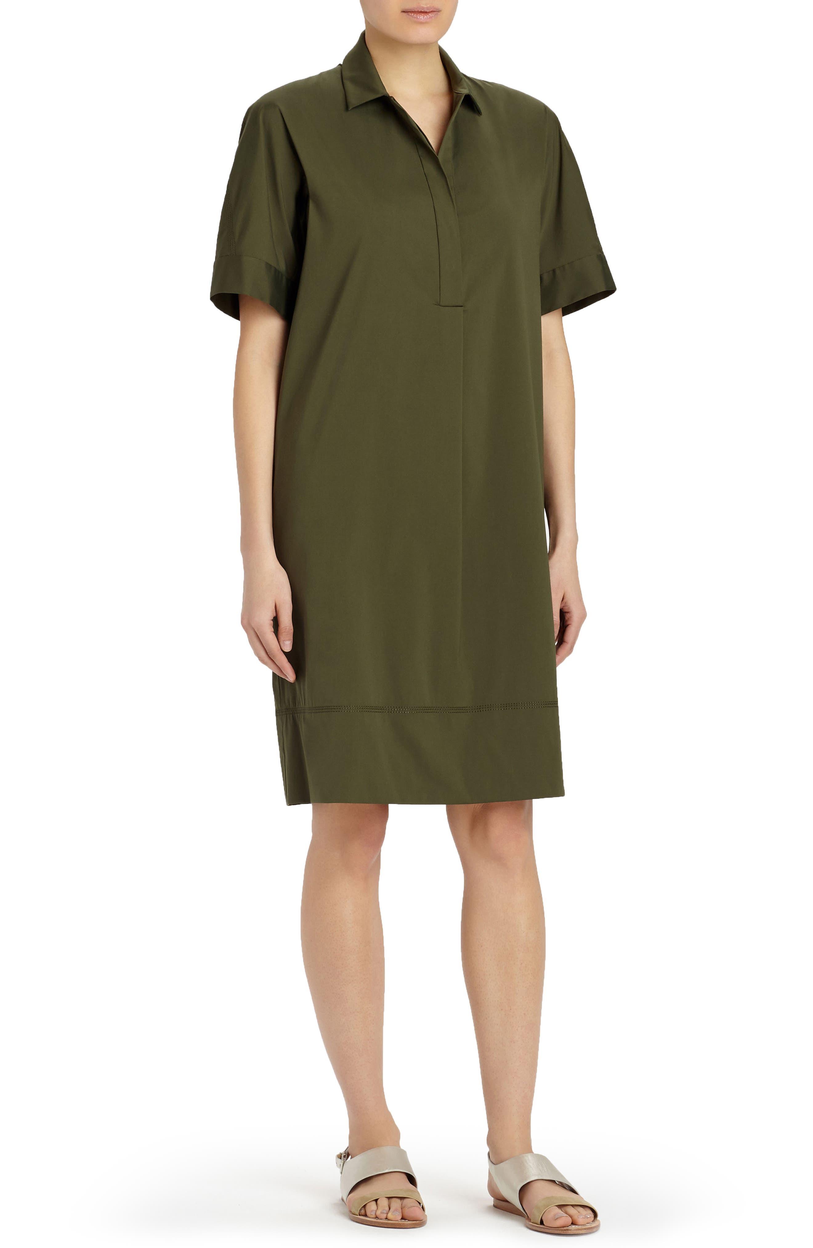 Lafayette 148 New York Zamira Cotton Blend Shirtdress