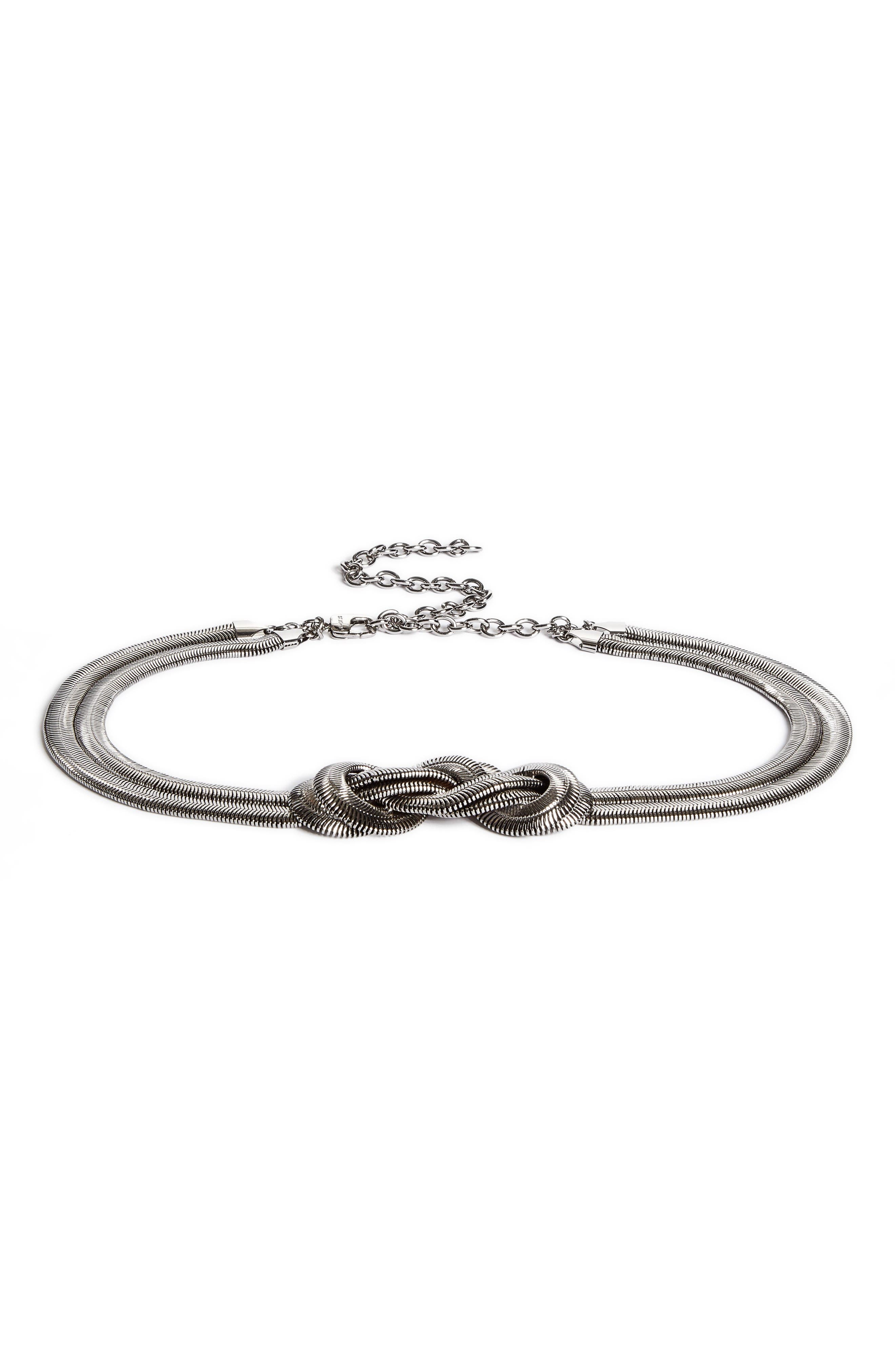 St. John Collection Snake Chain Knot Belt