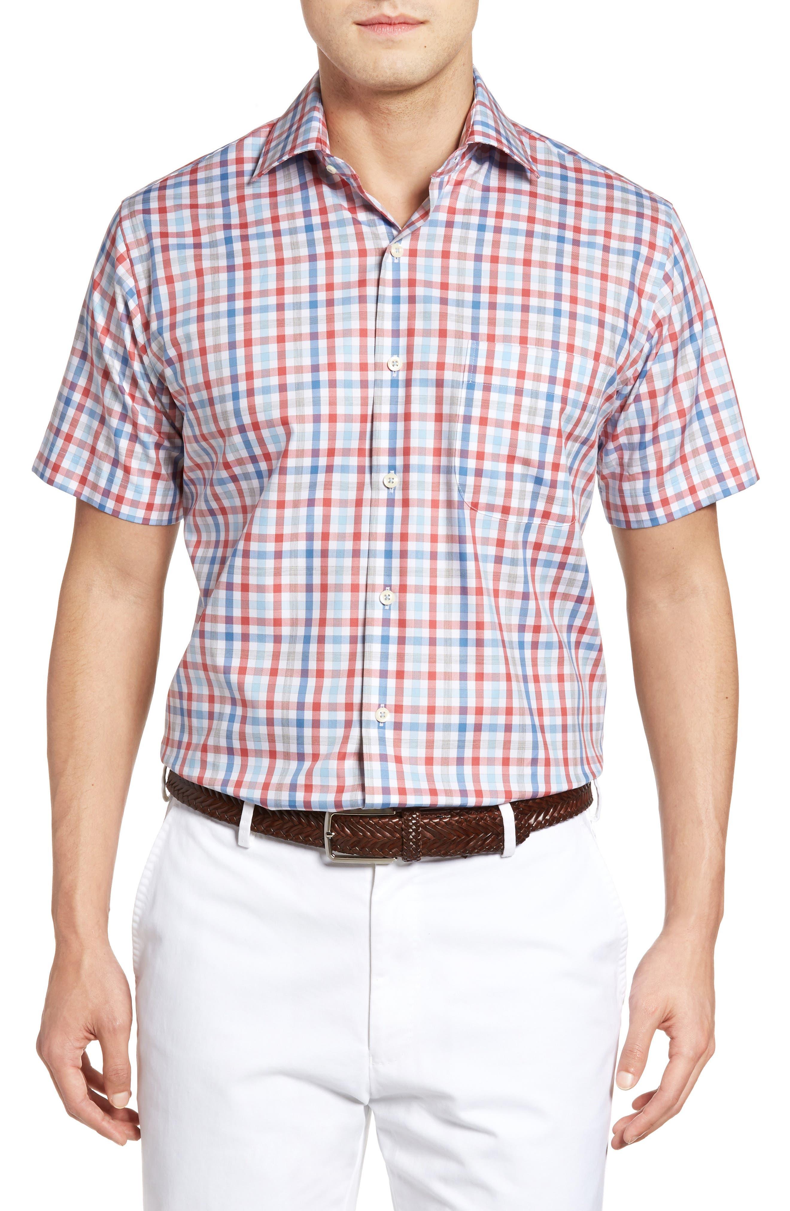 Peter Millar Check Sport Shirt