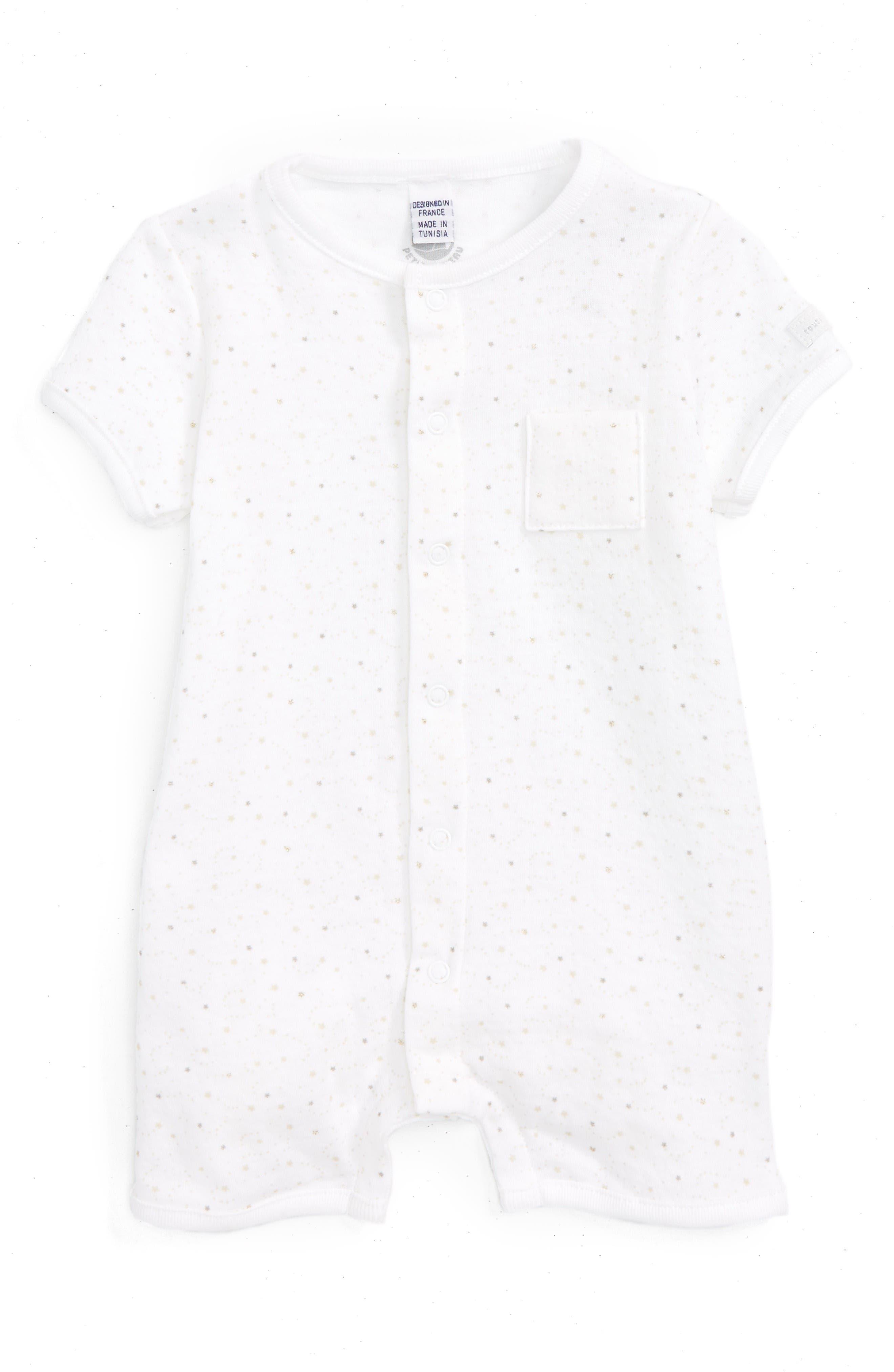 Petit Bateau Star Print Romper (Baby)