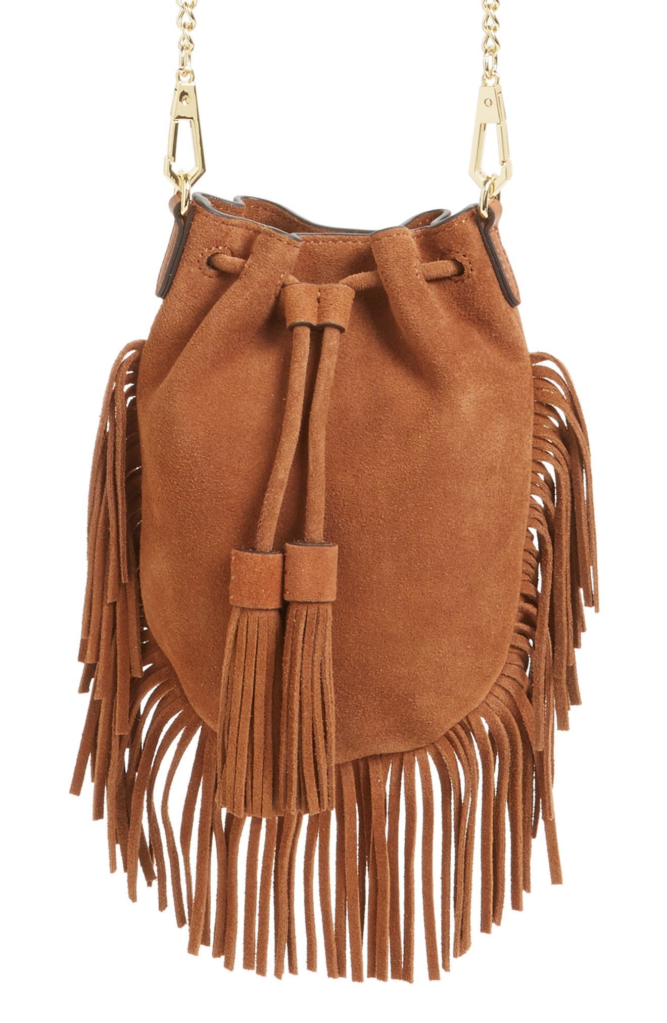 Rebecca Minkoff Fallen Suede Phone Crossbody Bag