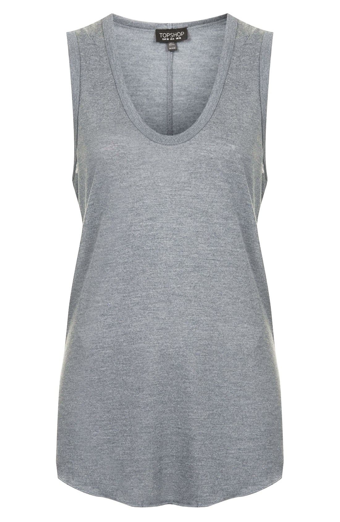 Alternate Image 4  - Topshop U-Neck Tank