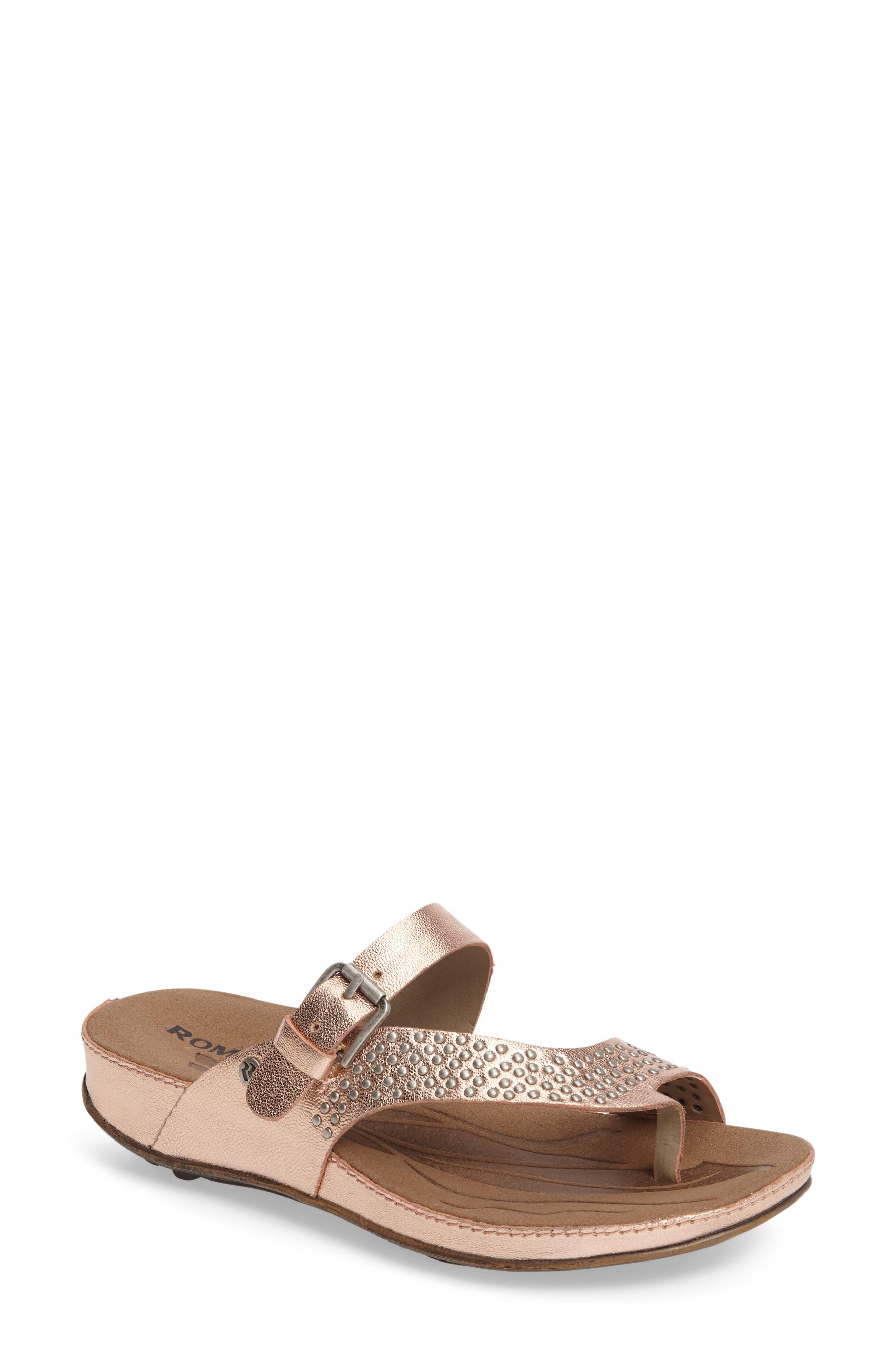 Romika® 'Fidschi 34' Studded Thong Sandal (Women)