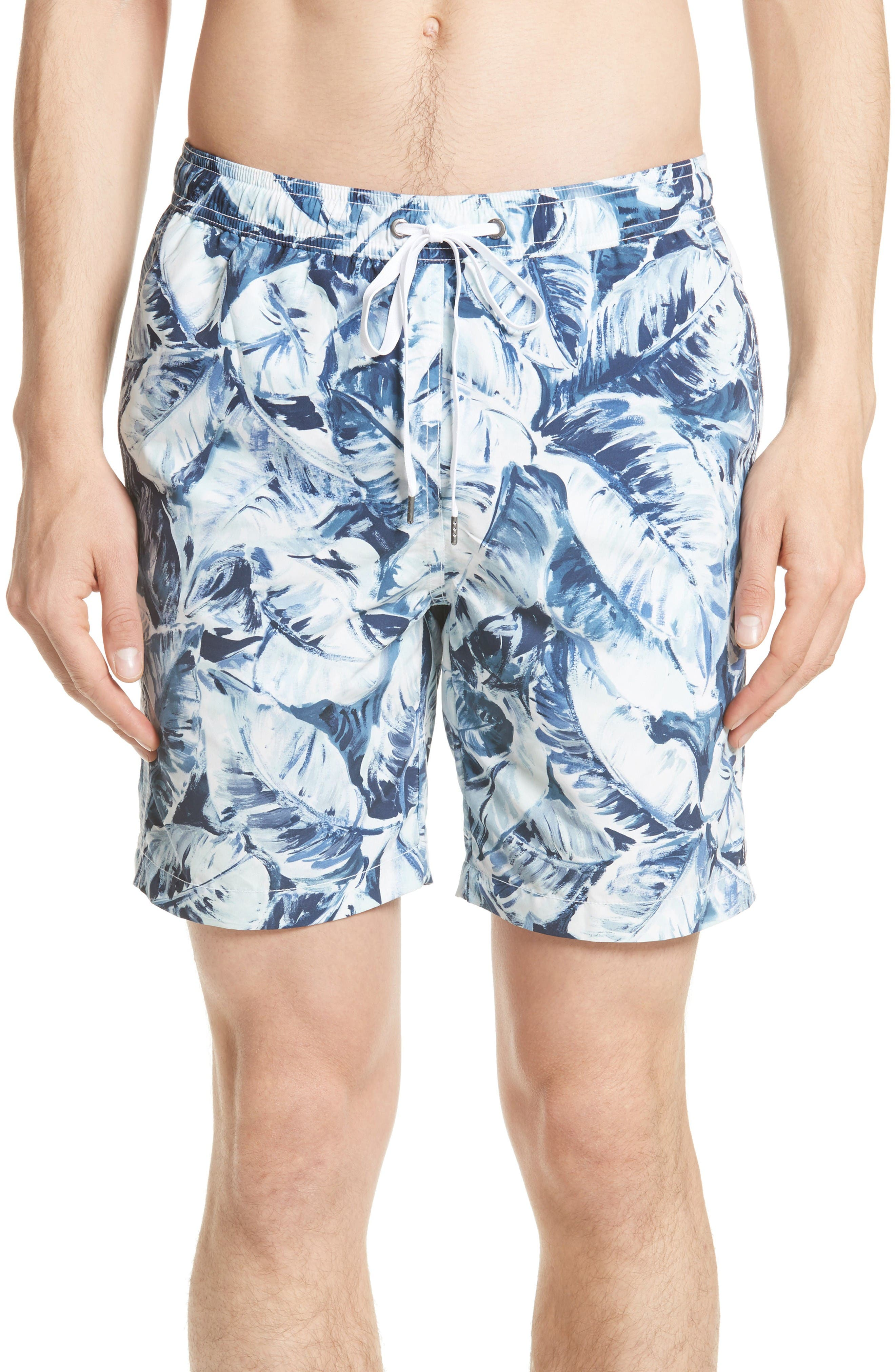 ONIA Charles Banana Leaf Swim Trunks