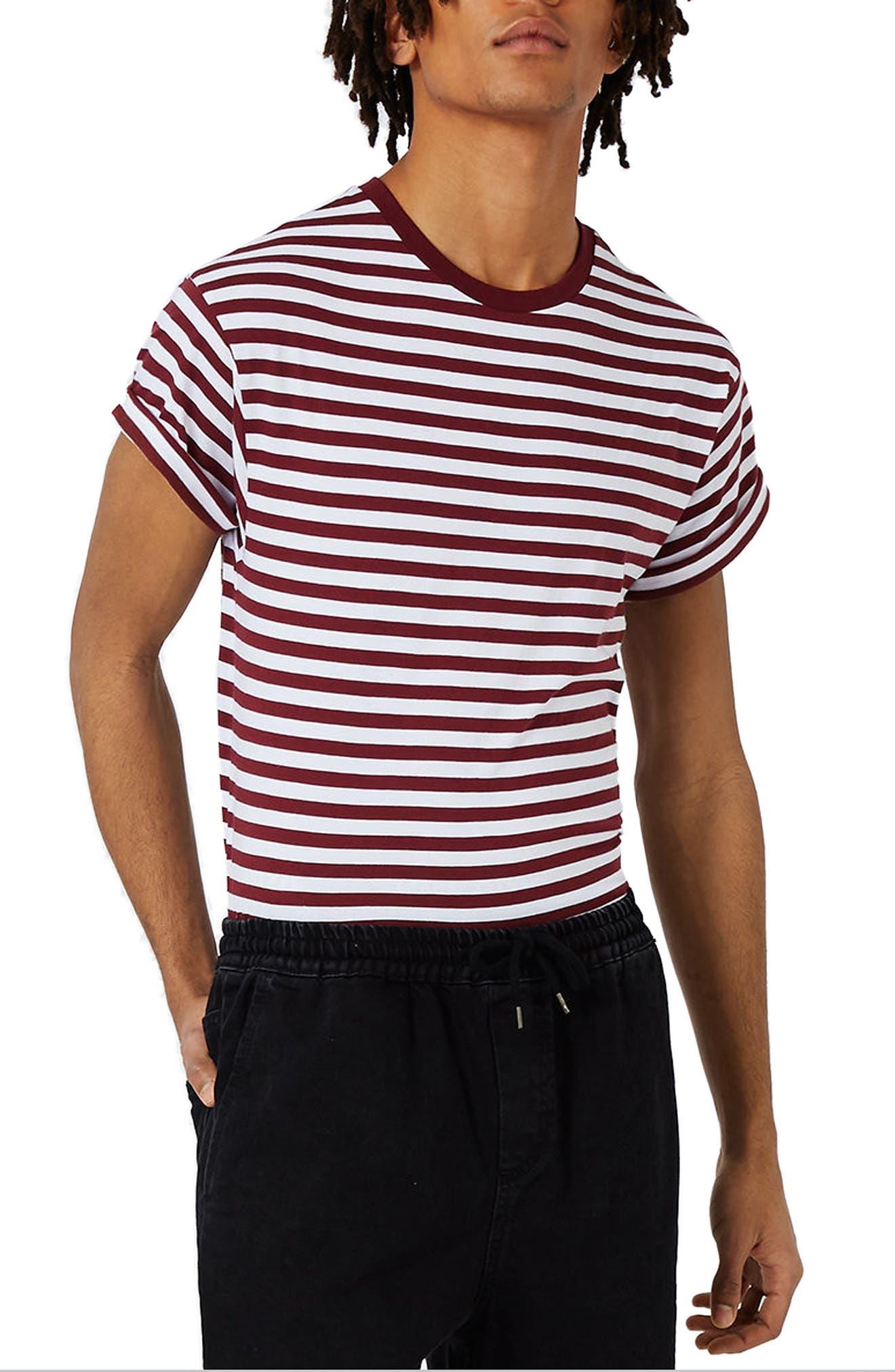Topman Stripe Muscle Roller T-Shirt