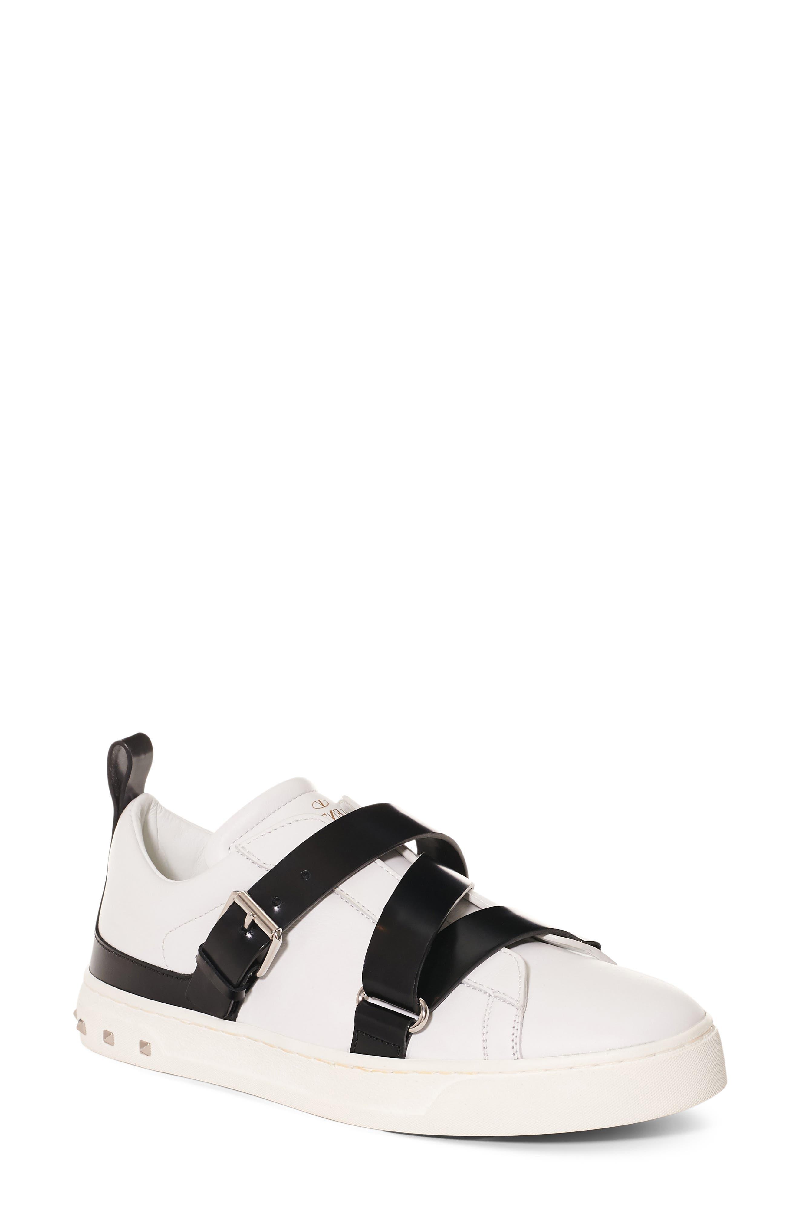 Valentino Rockstud Strappy Sneaker (Women)