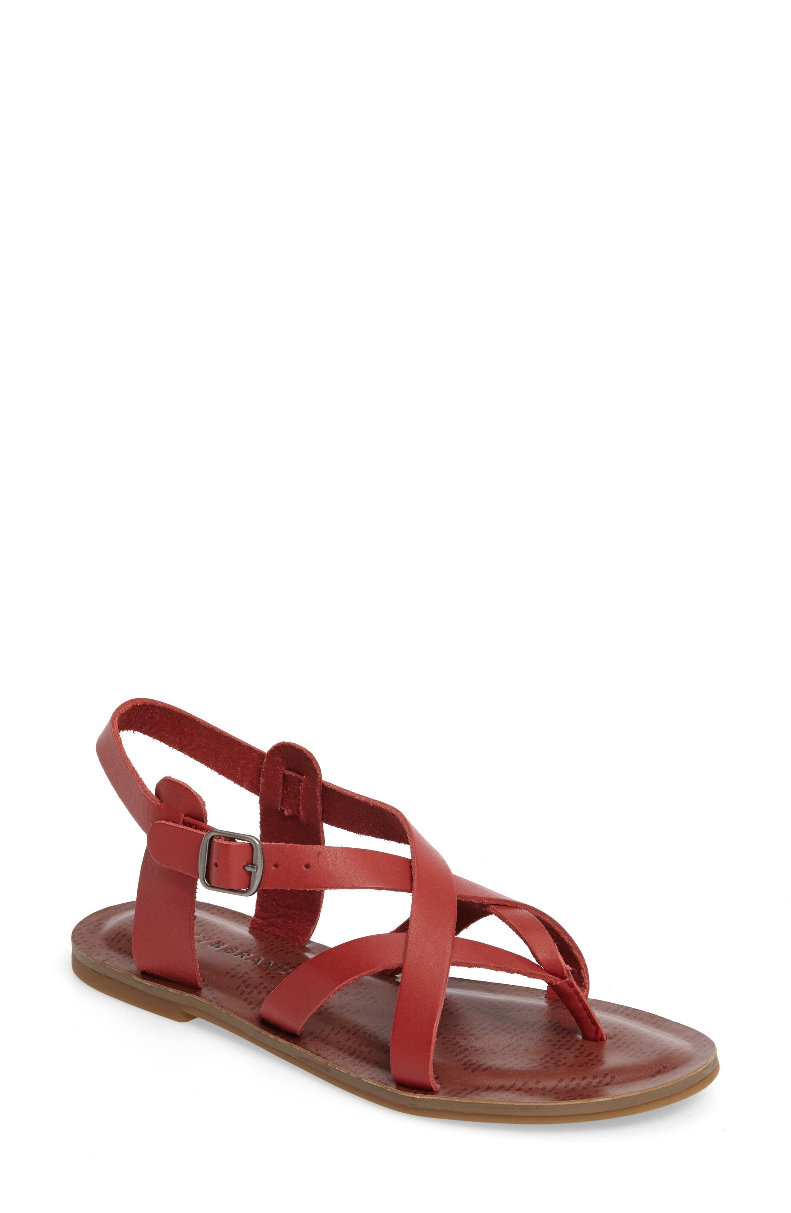 Alternate Image 1 Selected - Lucky Brand Adinis Flat Sandal (Women)