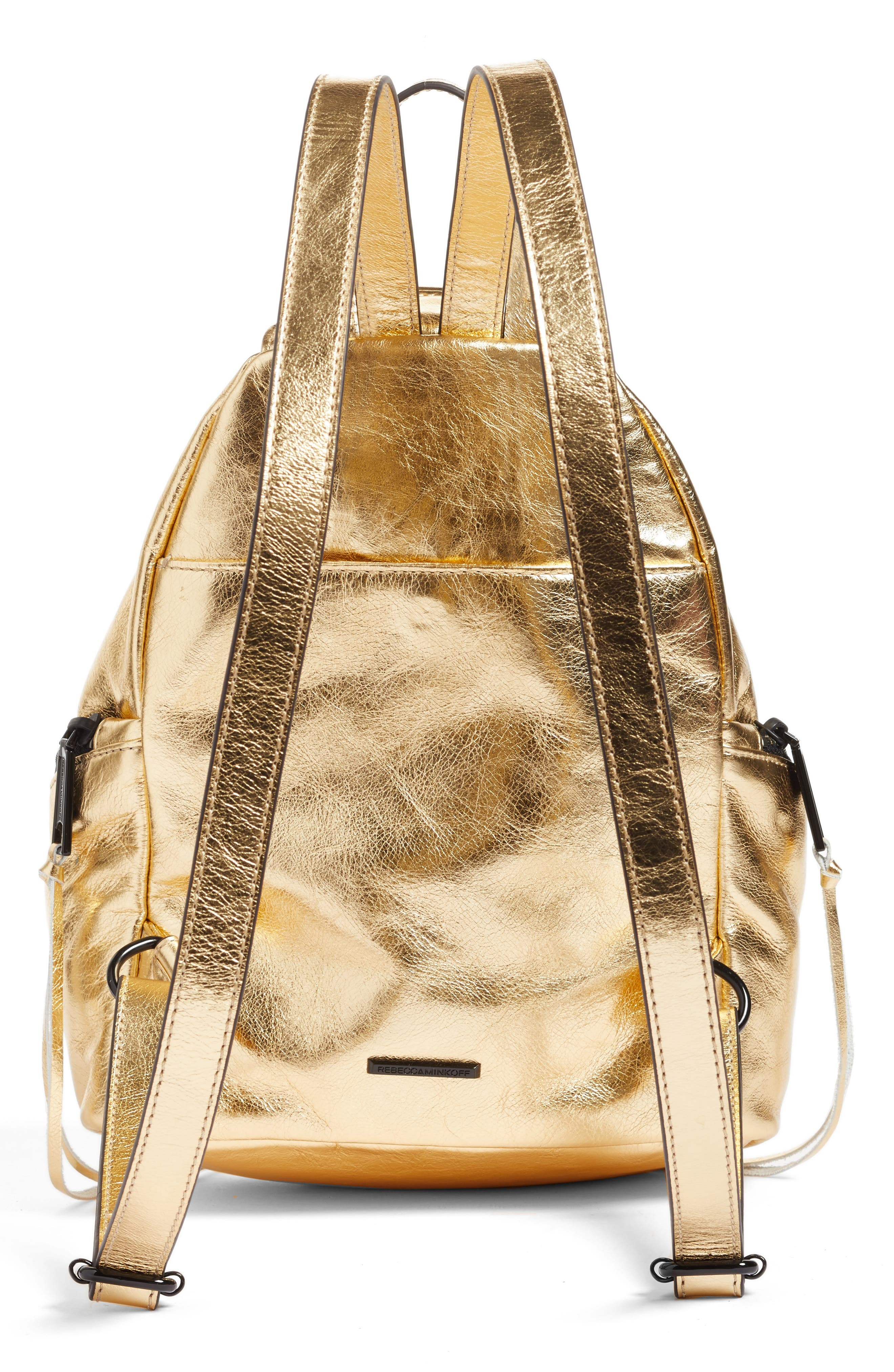 Alternate Image 3  - Rebecca Minkoff Medium Julian Metallic Leather Backpack (Nordstrom Exclusive)