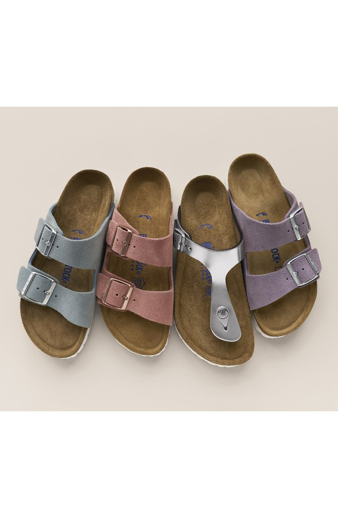 Alternate Image 7  - Birkenstock Arizona Birko-Flor Soft Footbed Slide Sandal (Women)