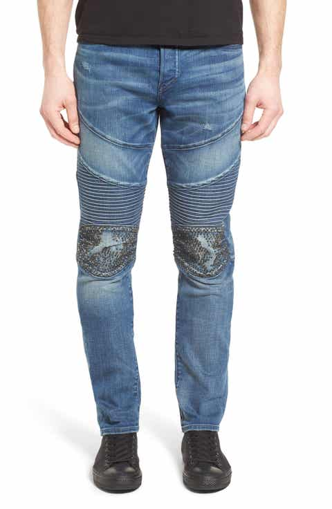 True Religion Brand Jeans Rocco Skinny Fit Jeans (Endless Road)