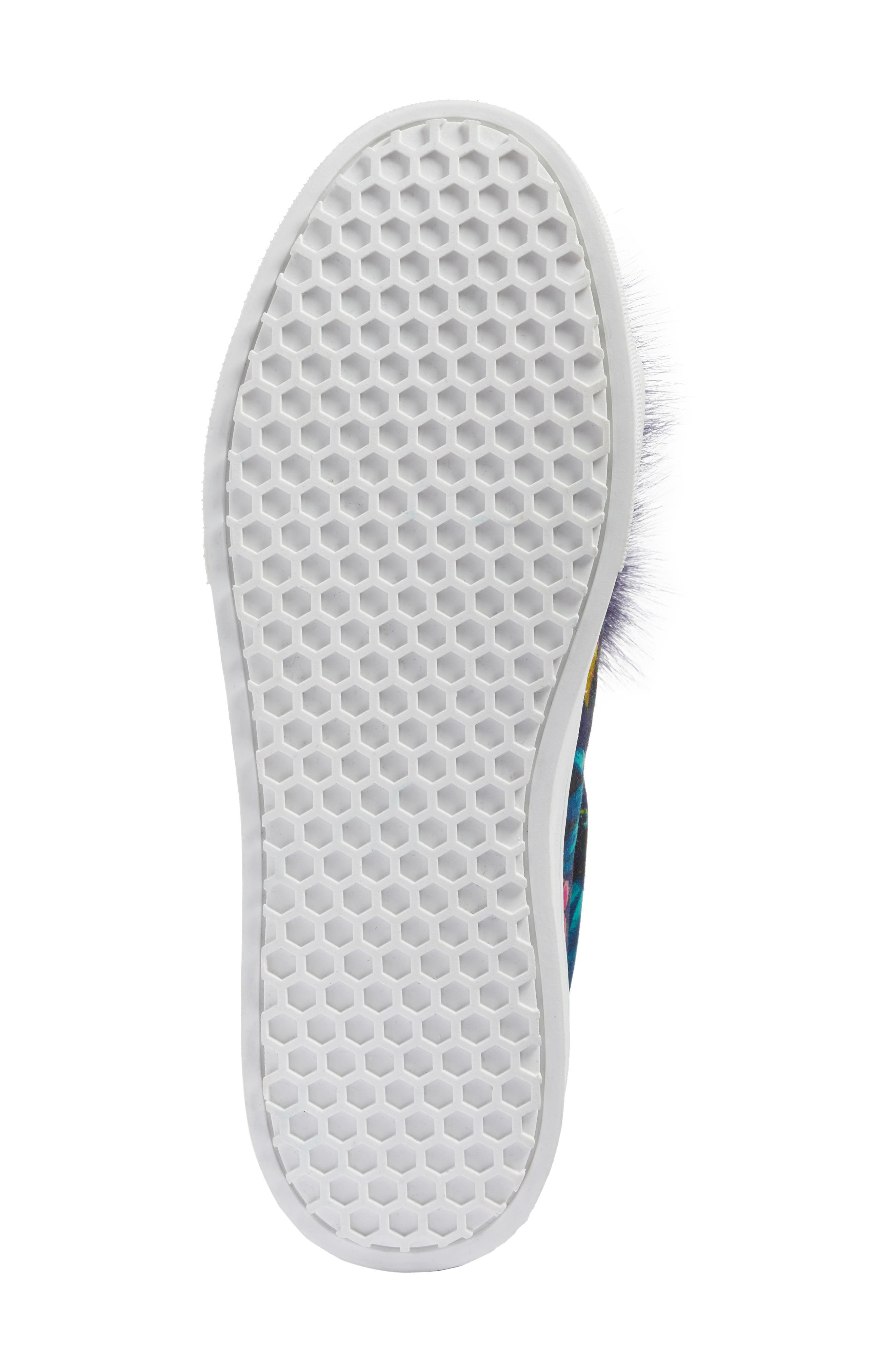 Alternate Image 6  - Sam Edelman 'Leya' Faux Fur Laceless Sneaker (Women)