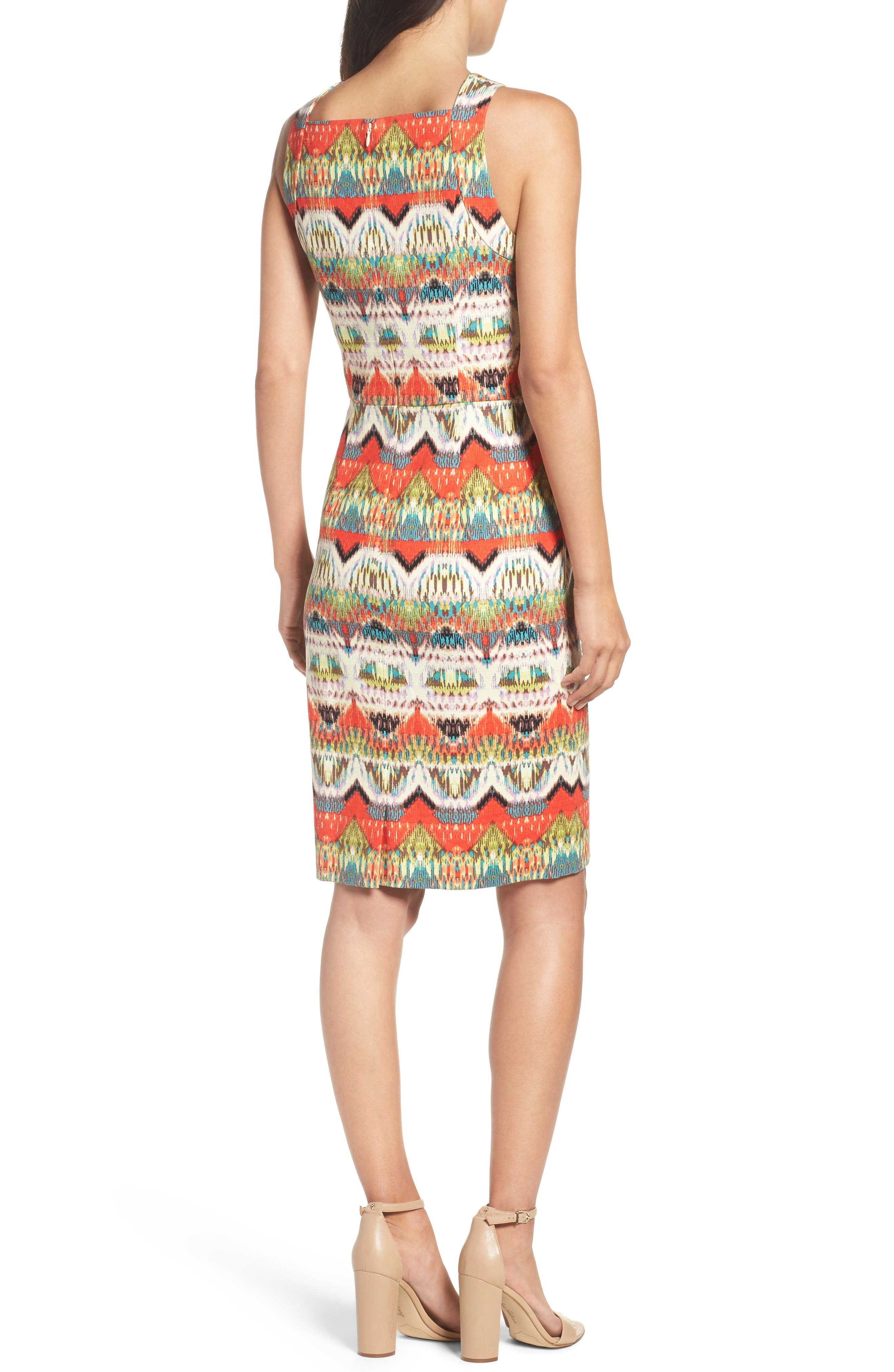 Alternate Image 2  - Maggy London Print Sheath Dress (Regular & Petite)