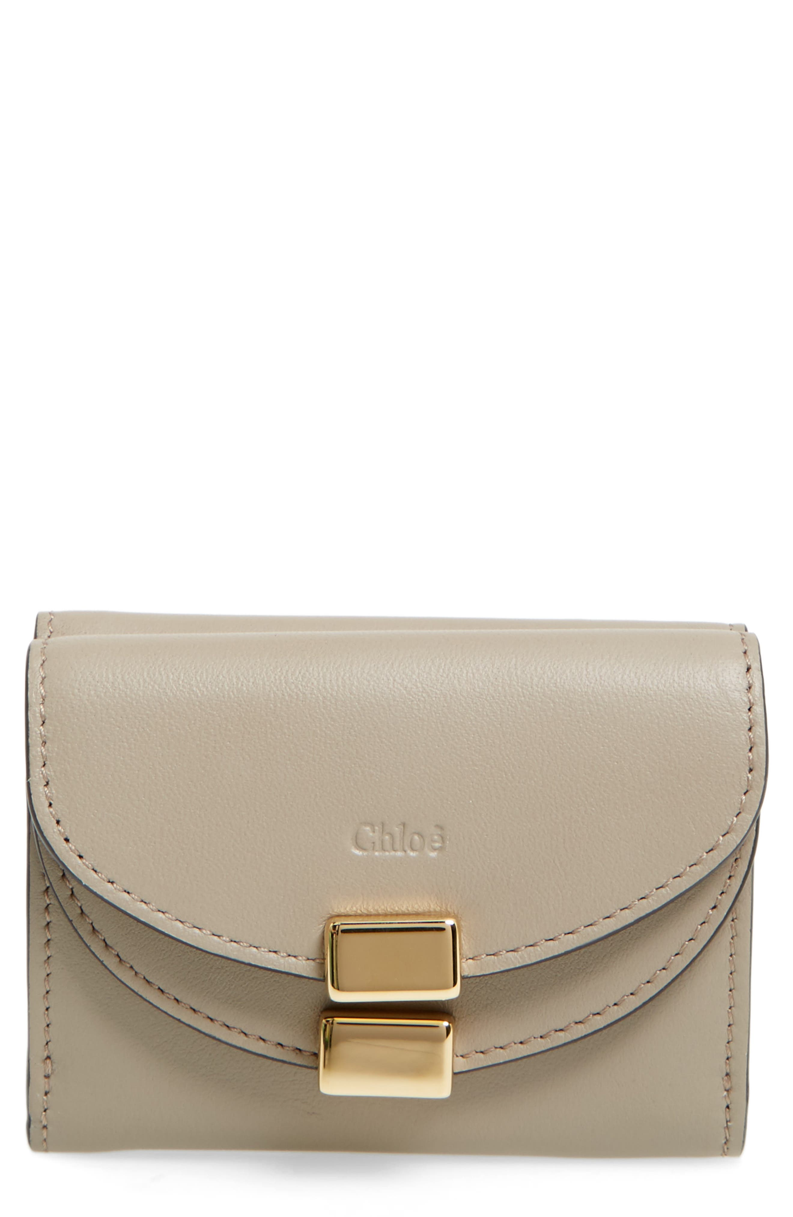 Chloé Mini Georgia Calfskin Trifold Wallet