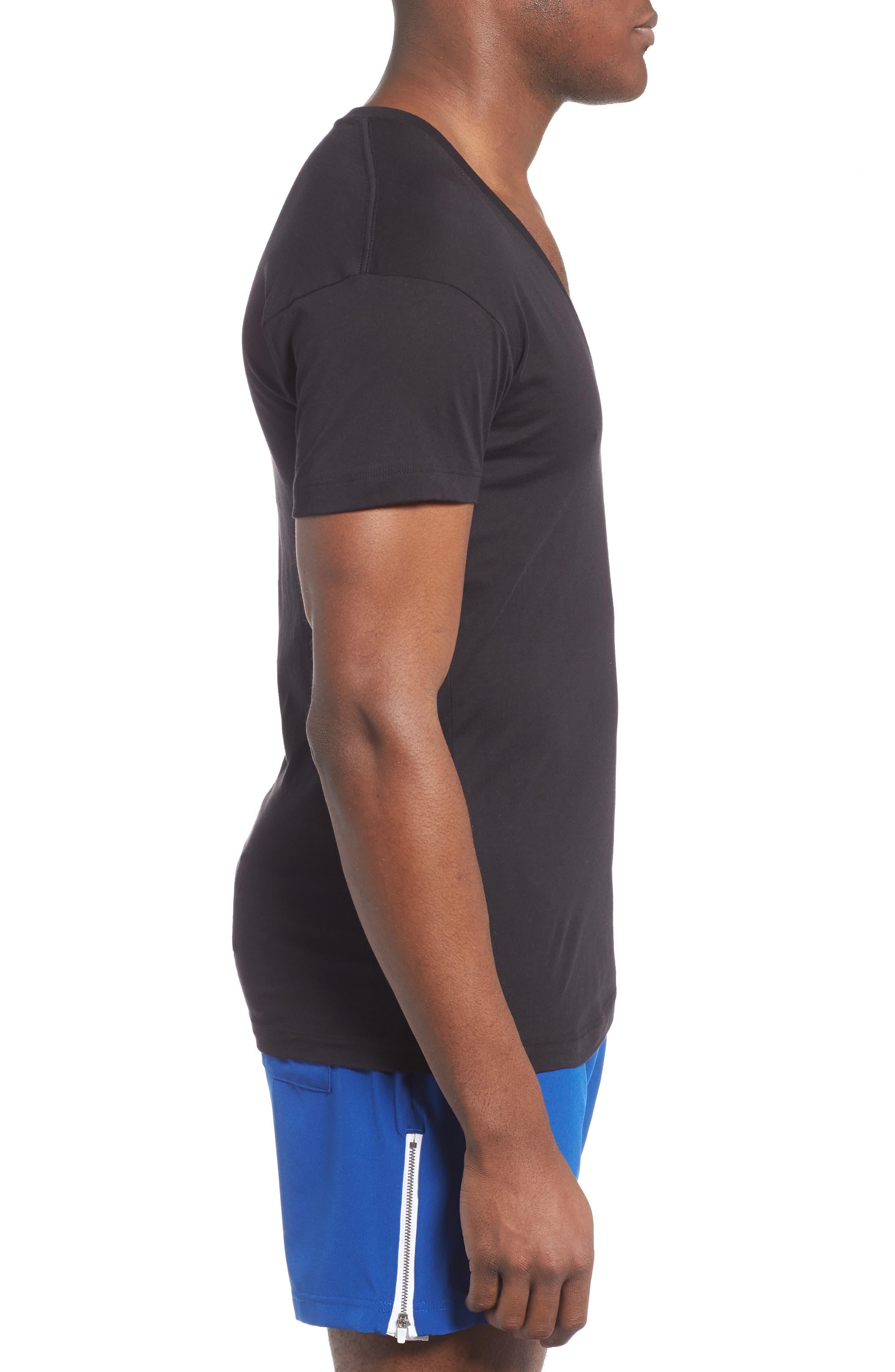 Alternate Image 3  - 2(x)ist Slim Fit Pima Cotton Deep V-Neck T-Shirt
