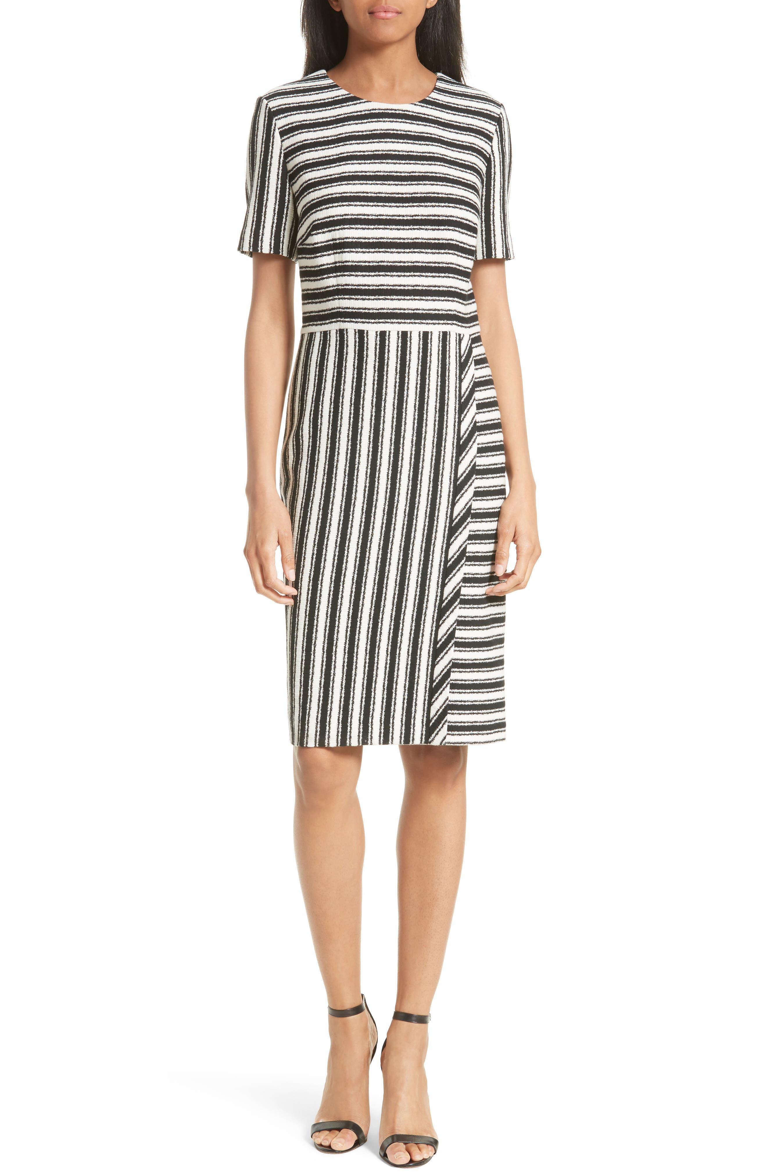 BOSS Haripela Stripe Sheath Dress (Regular & Petite)