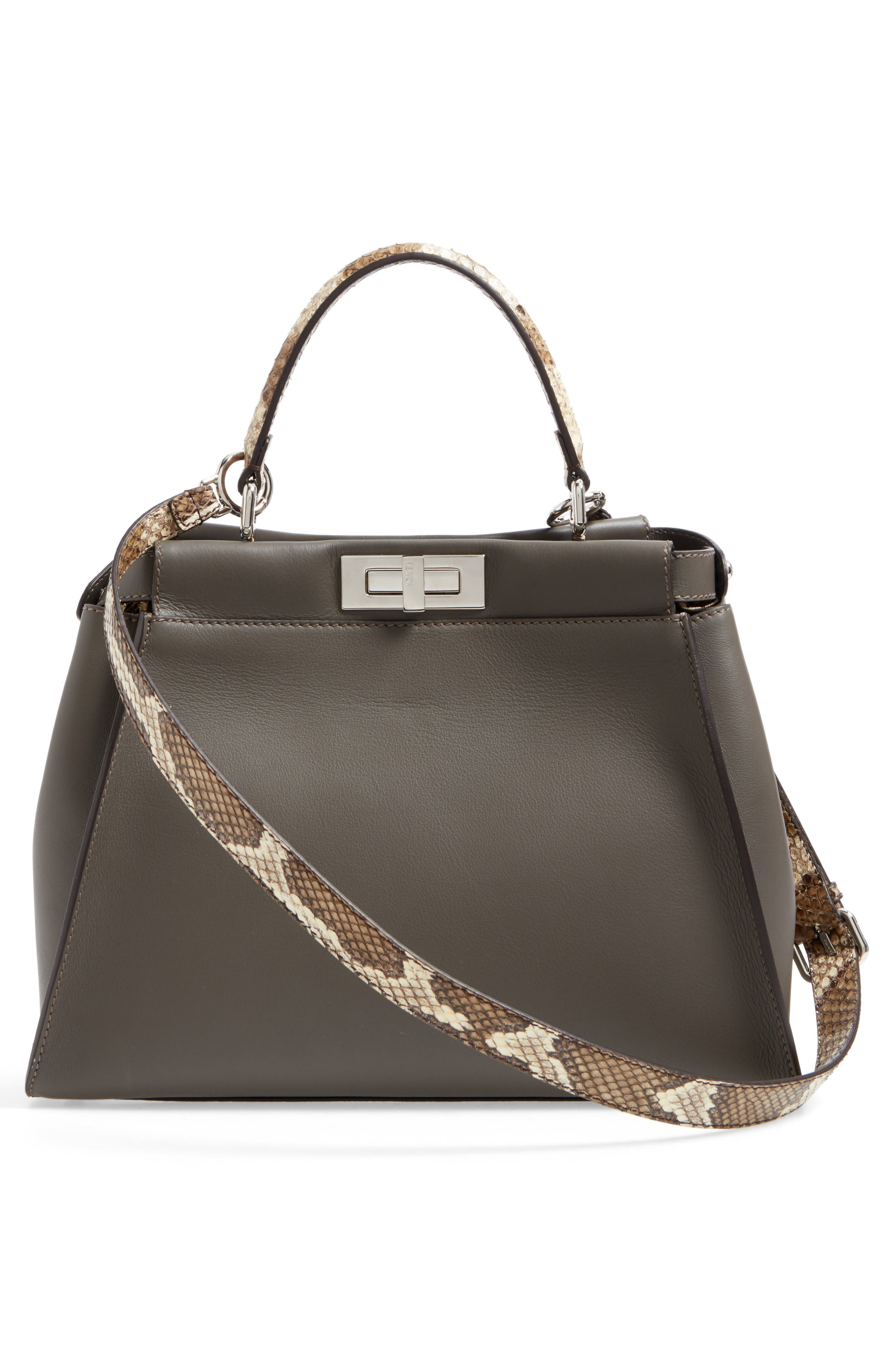 Alternate Image 3  - Fendi Peekaboo Calfskin Leather & Genuine Python Satchel