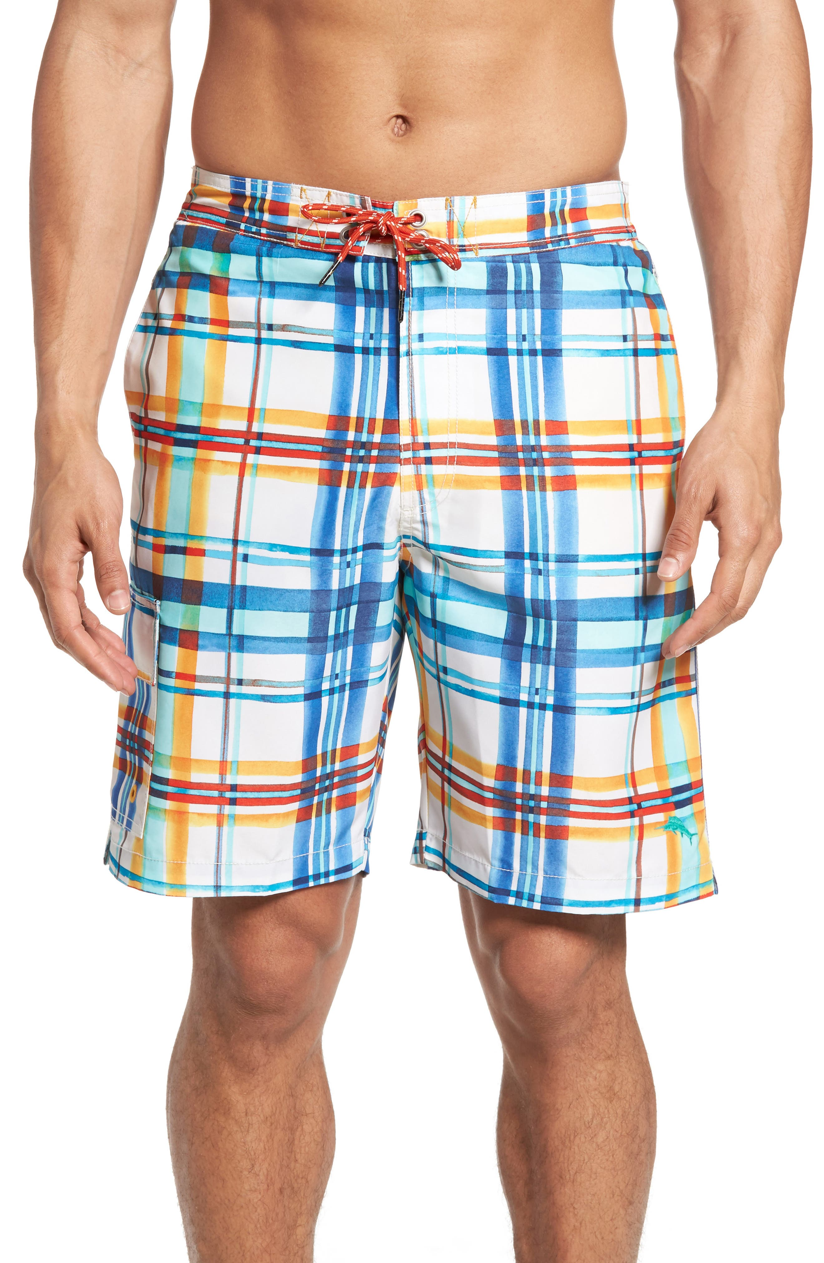 Tommy Bahama Baja Plaid Skills Board Shorts
