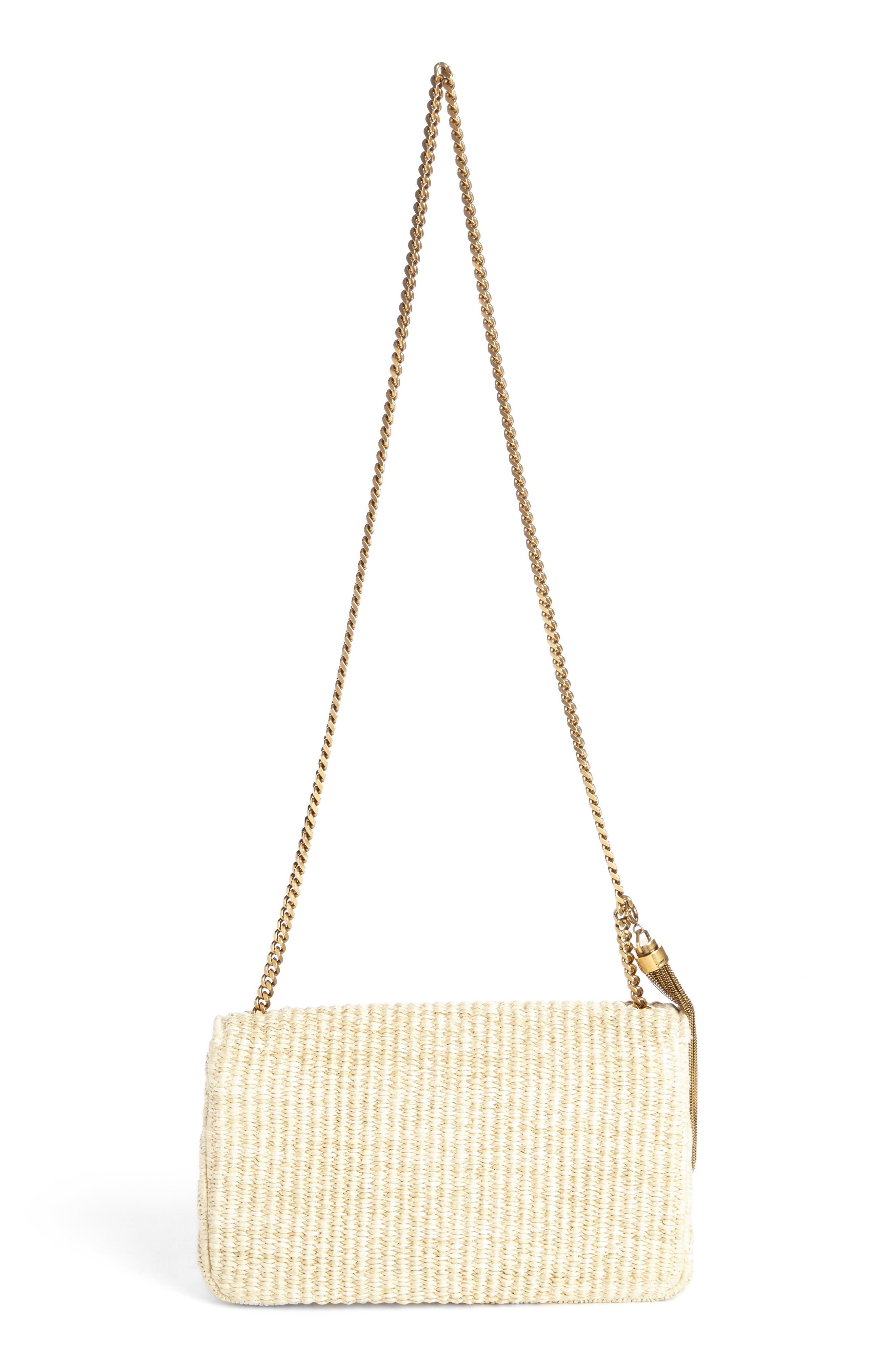 Alternate Image 2  - Saint Laurent Medium Kate Raffia Shoulder Bag