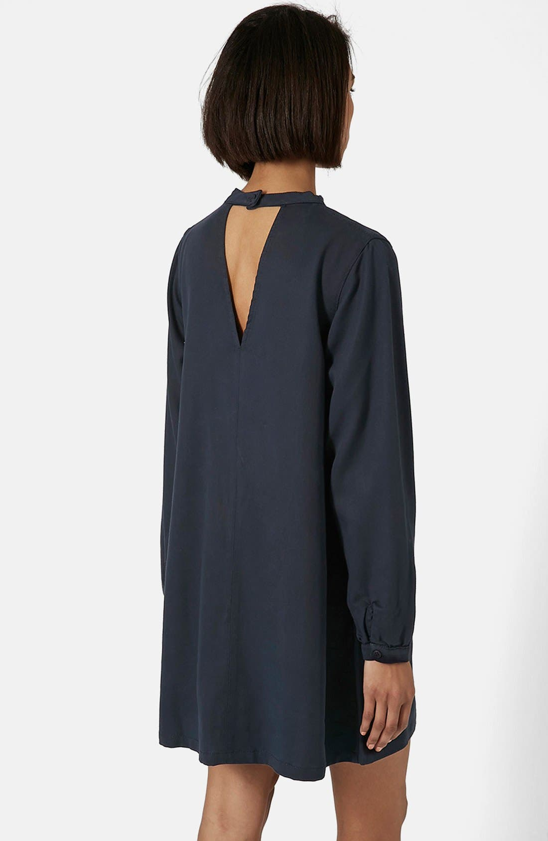 Alternate Image 2  - Topshop Boutique Long Sleeve Smock Dress