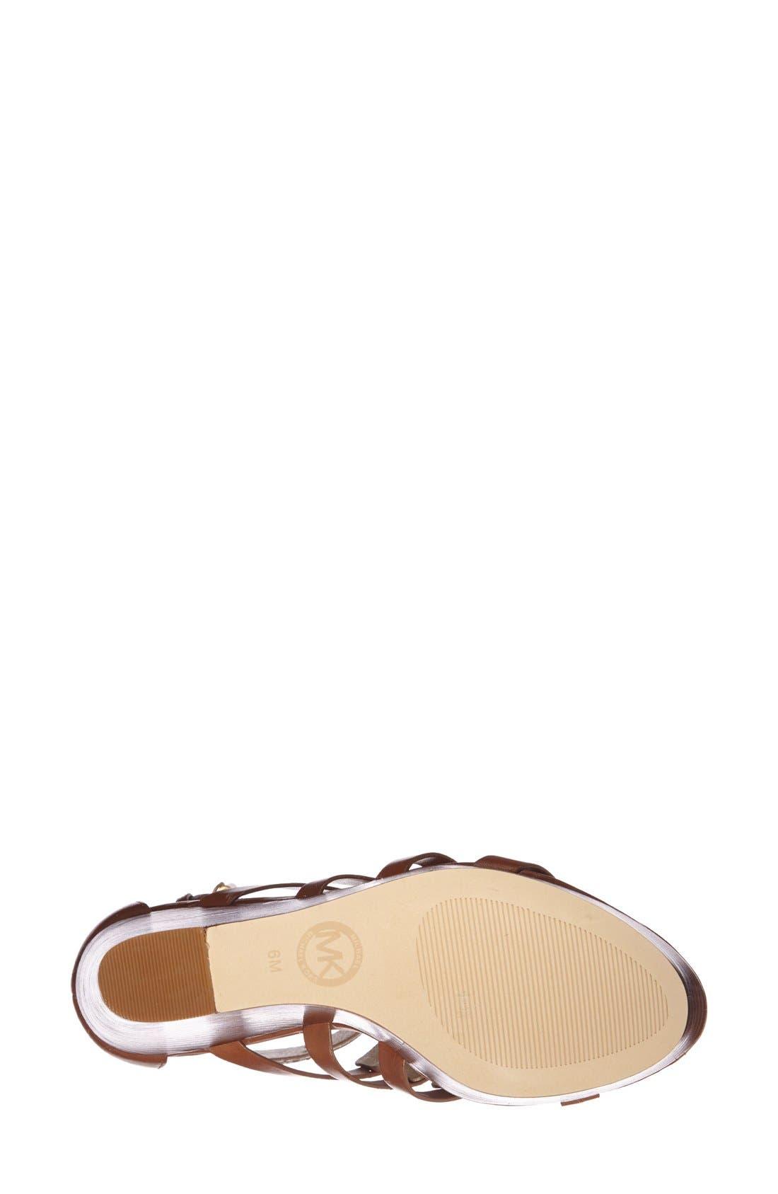 Alternate Image 4  - MICHAEL Michael Kors 'Nadine' Platform Wedge Sandal (Women)