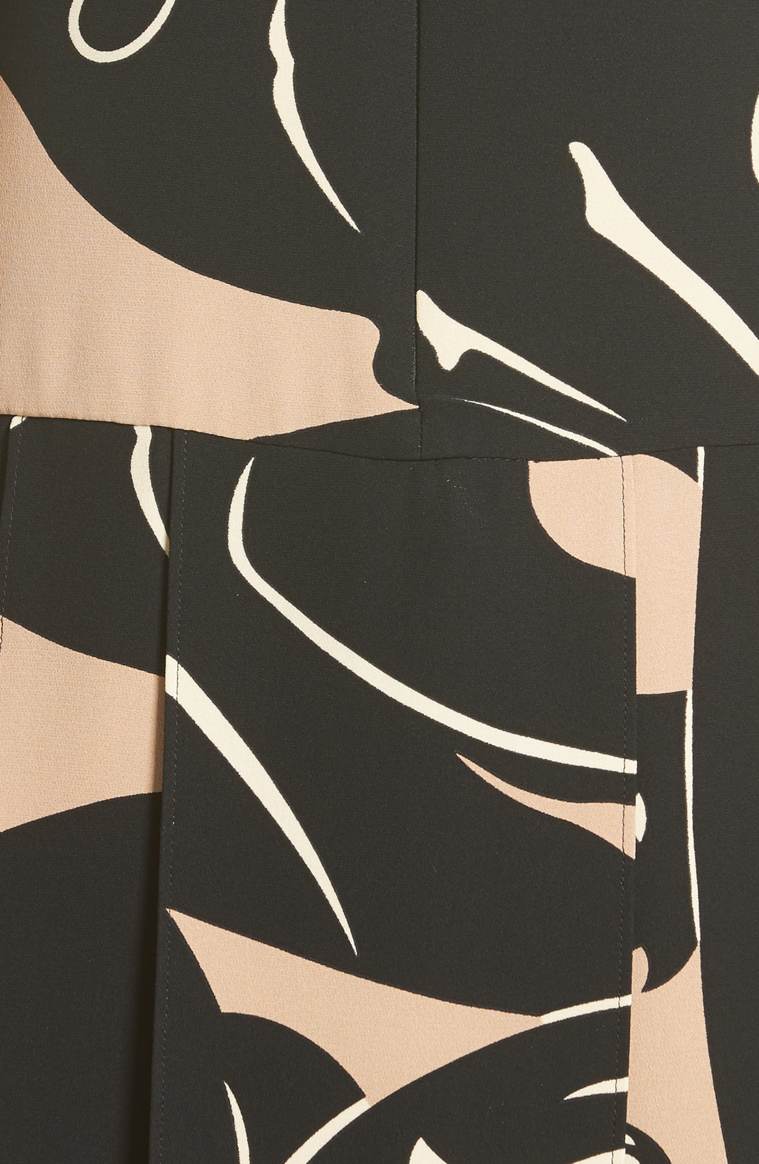 Alternate Image 3  - Valentino Panther Print Tie Neck Silk Cady Dress