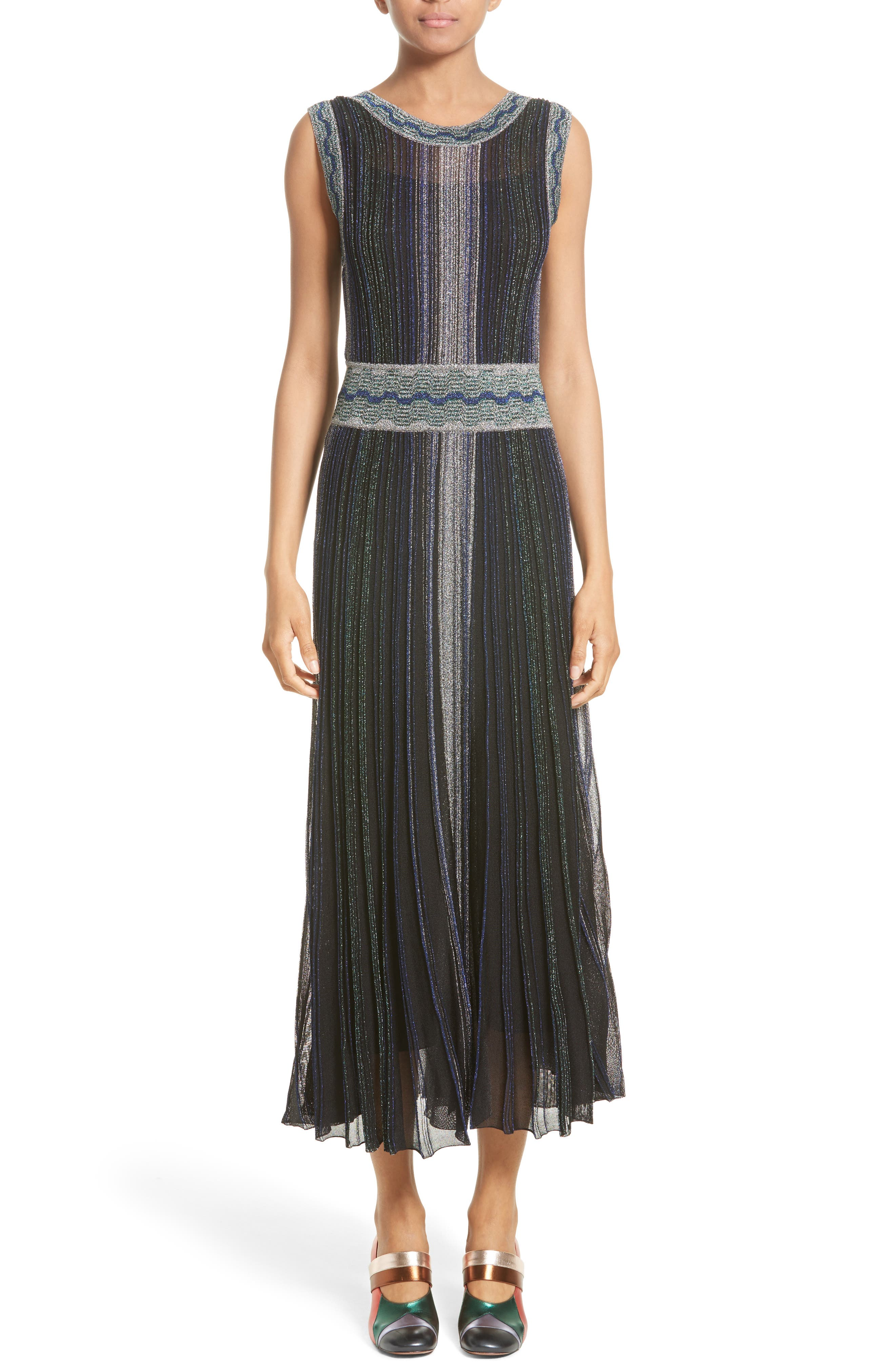 Missoni Reversible Metallic Rib Knit Dress
