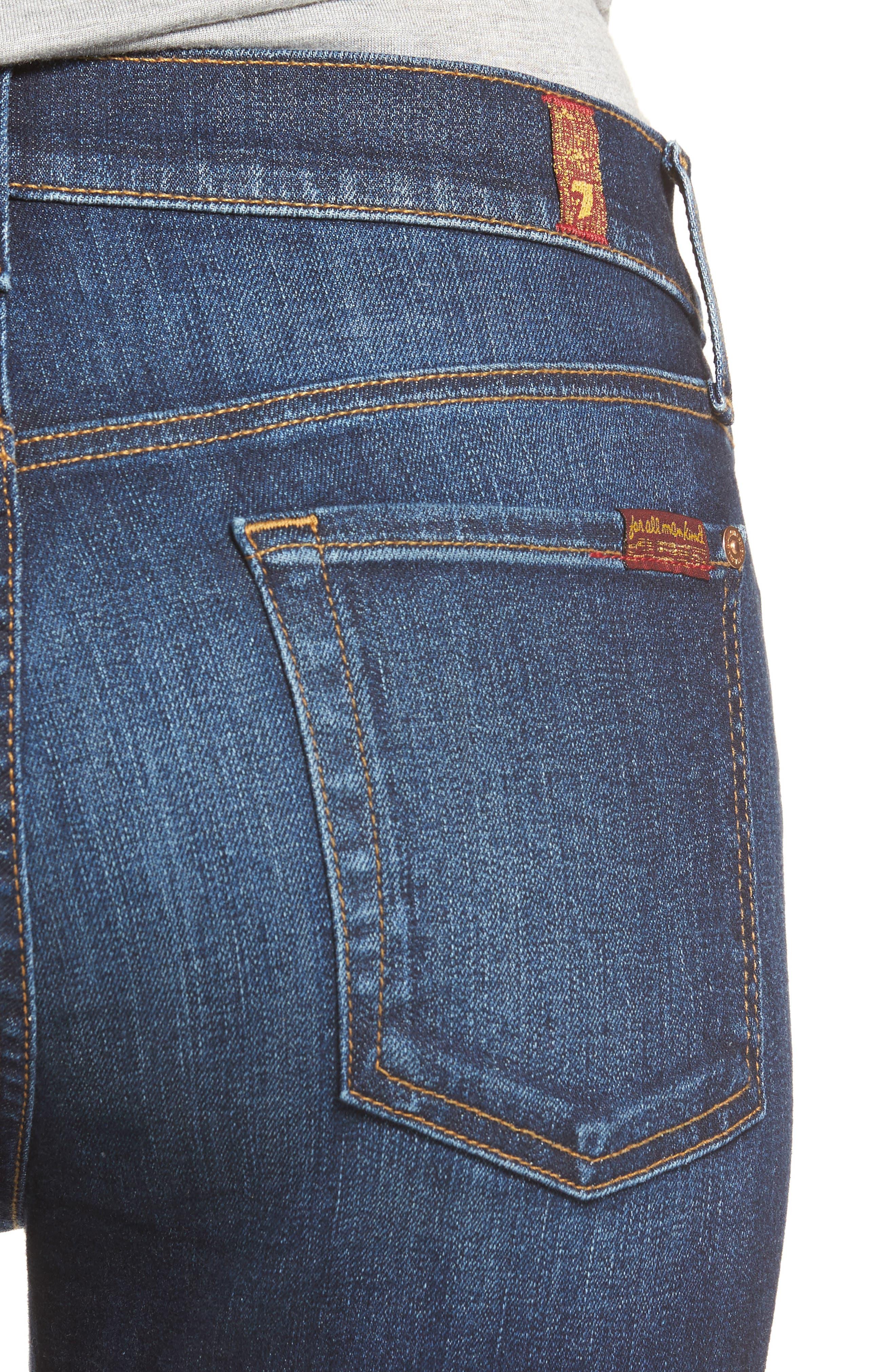 Alternate Image 4  - 7 For All Mankind® Ankle Skinny Jeans (Dark Paradise)