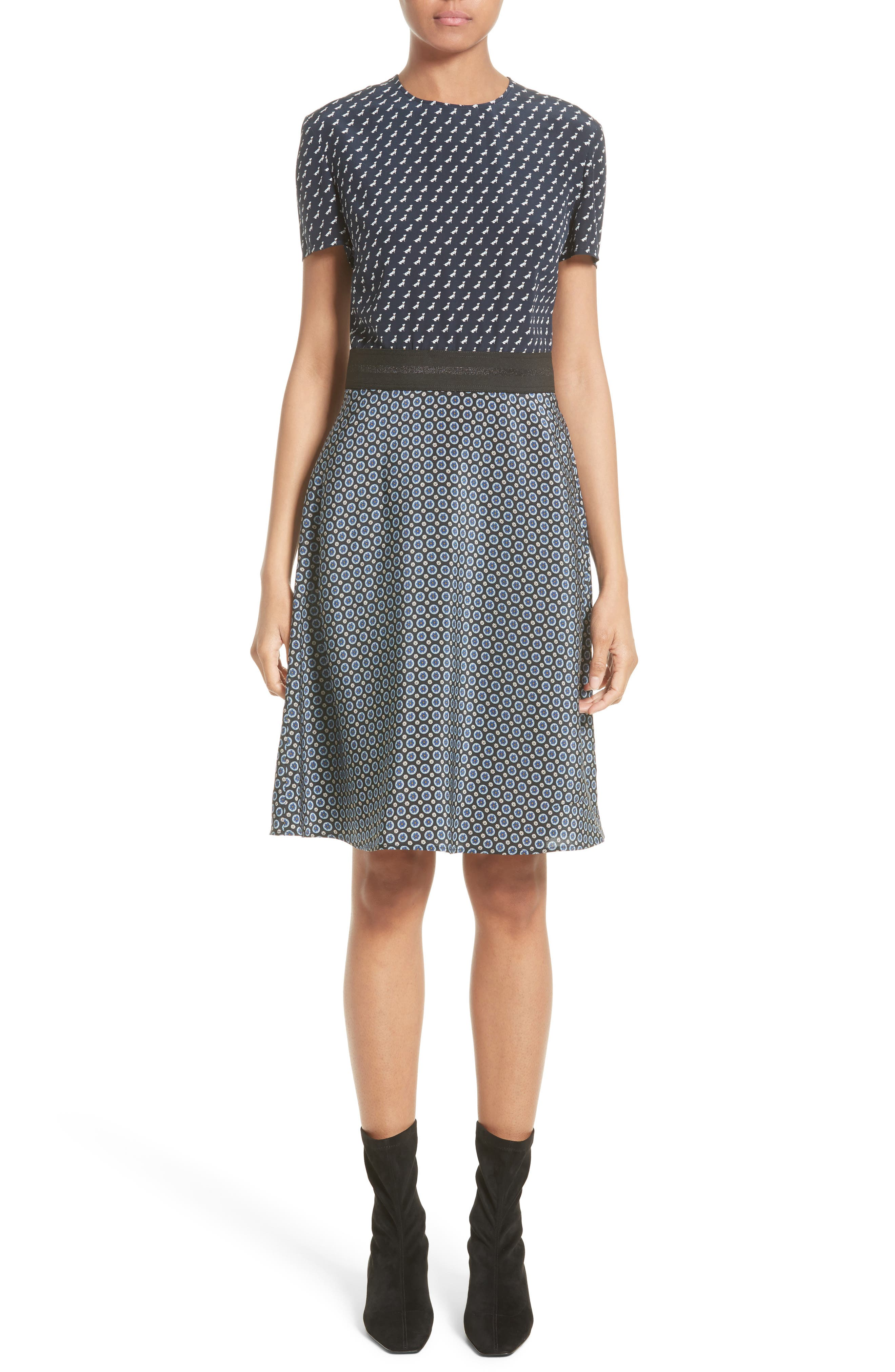 Alternate Image 1 Selected - Stella McCartney Windsor Print Silk Dress