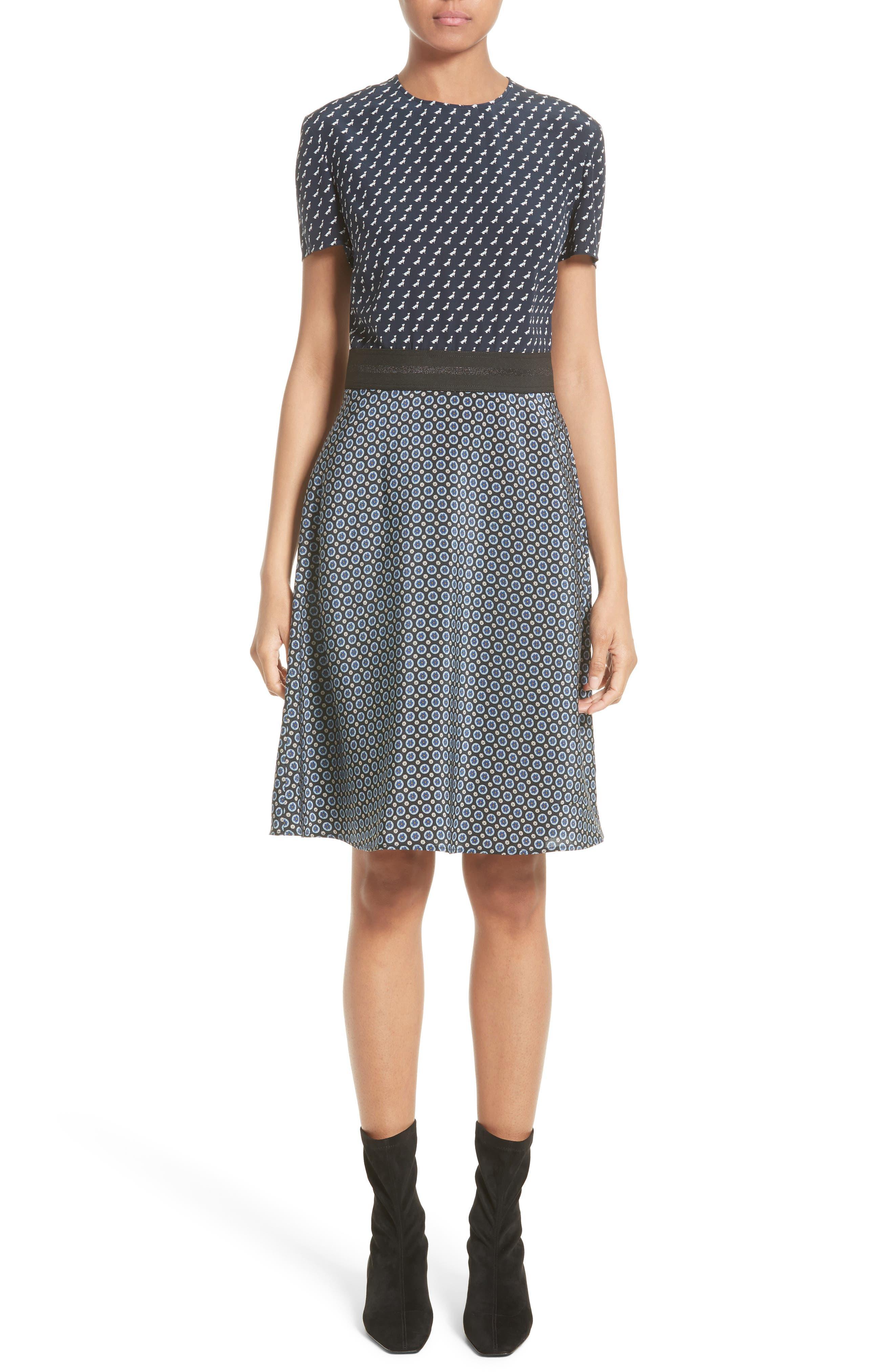 Stella McCartney Windsor Print Silk Dress