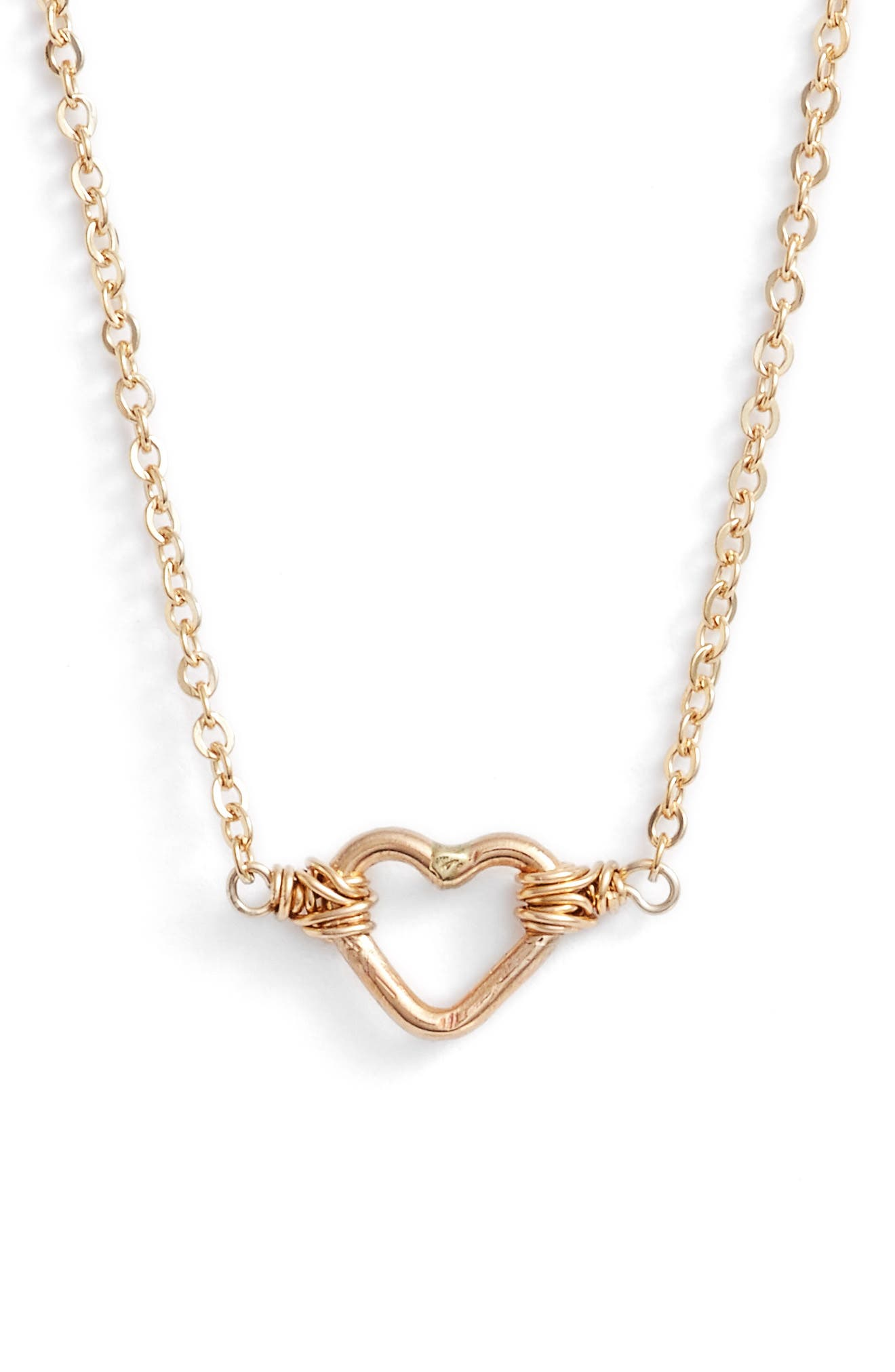 Nashelle Mini Open Heart Pendant Necklace