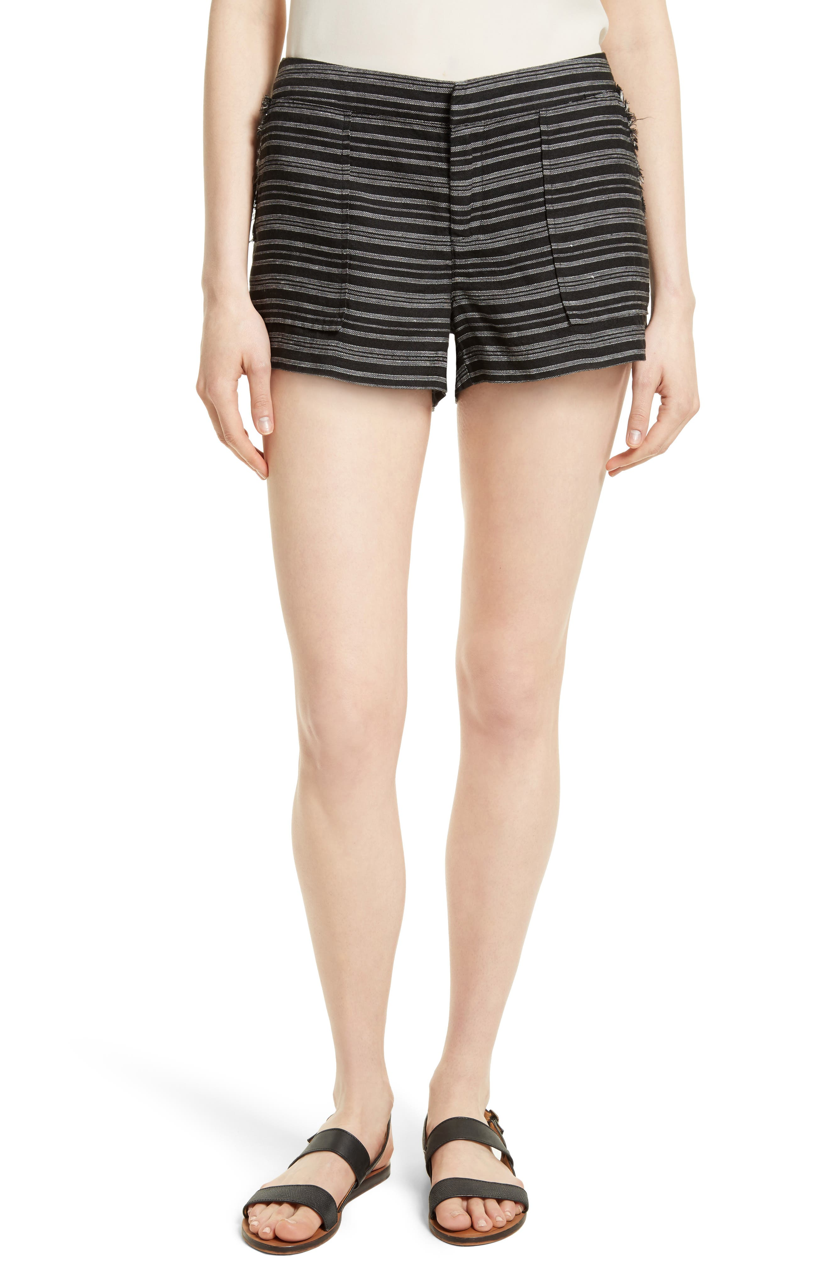 Joie Chalina Stripe Linen Shorts