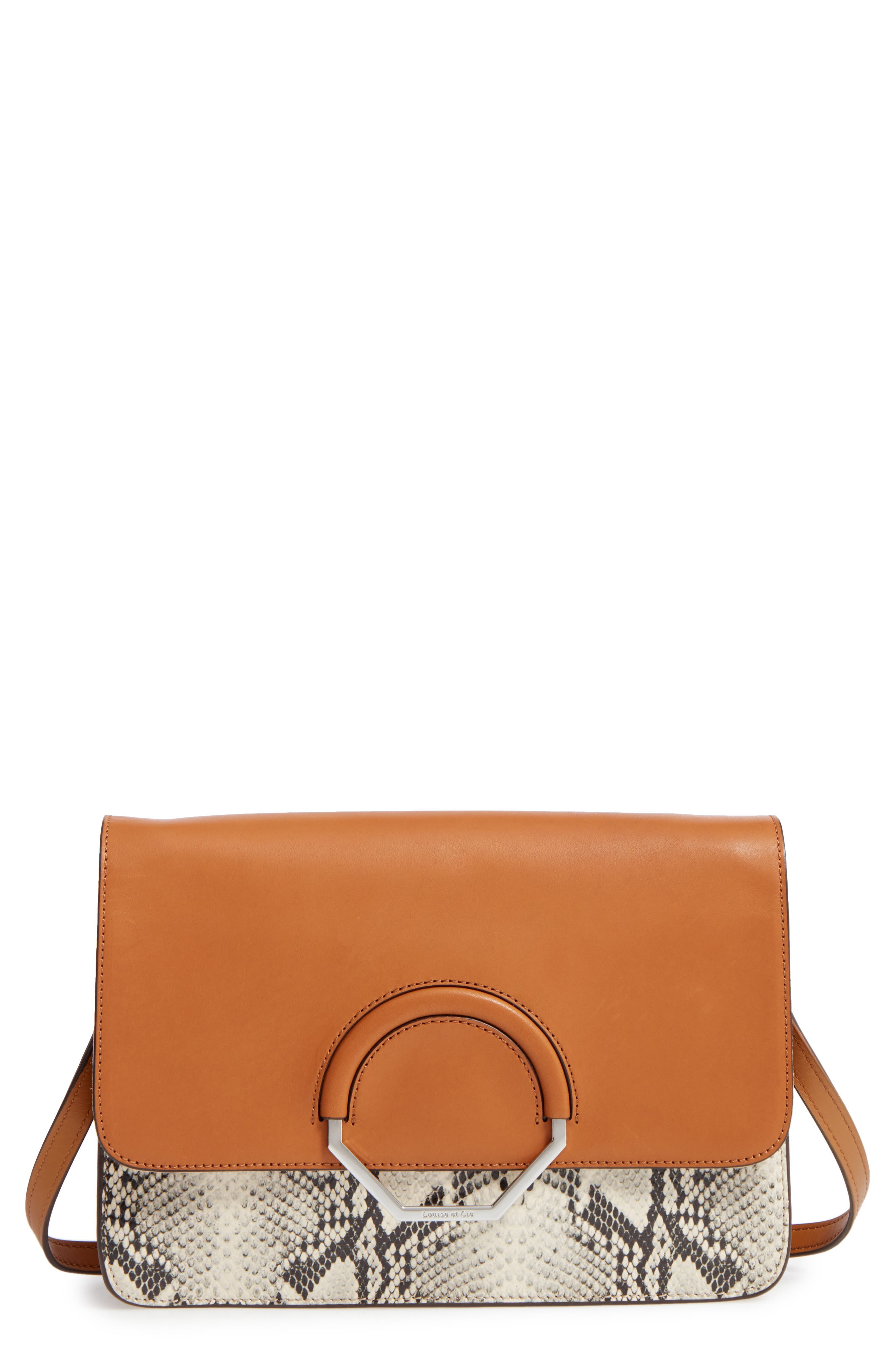 Louise et Cie Maree Convertible Leather Clutch