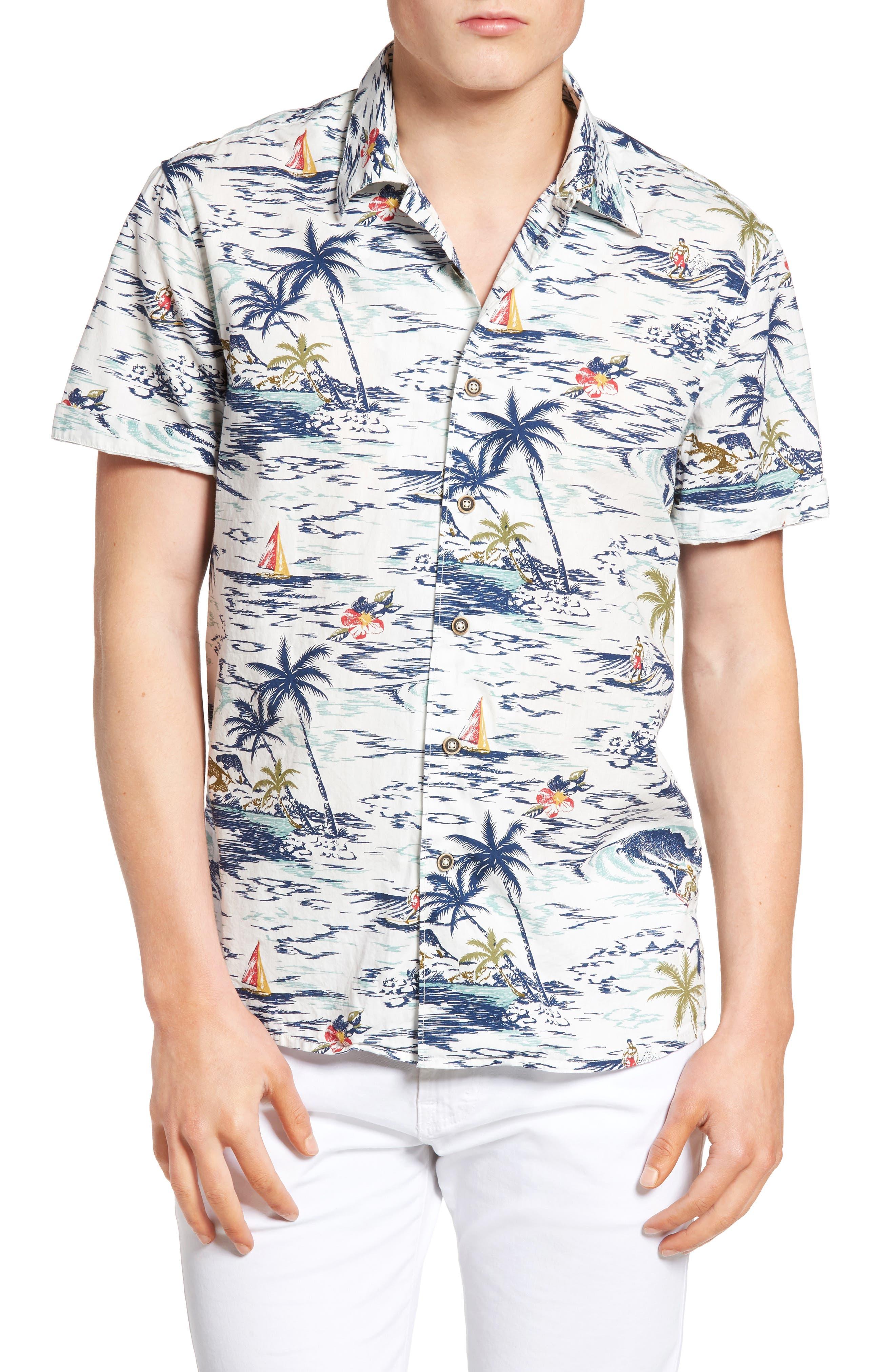 Lucky Brand Aloha Print Shirt