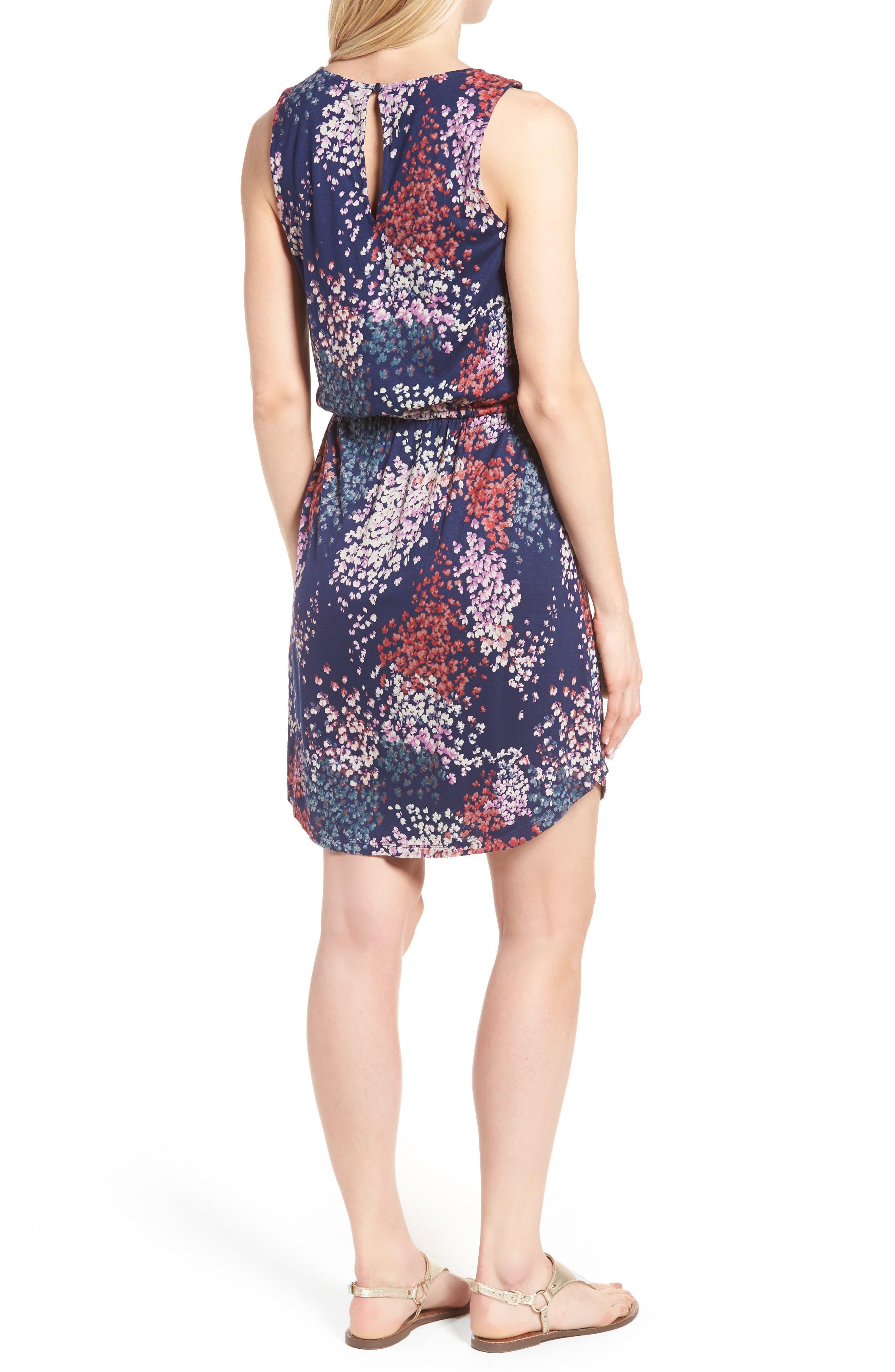 Alternate Image 2  - Lucky Brand Nora Drawstring Print Knit Dress