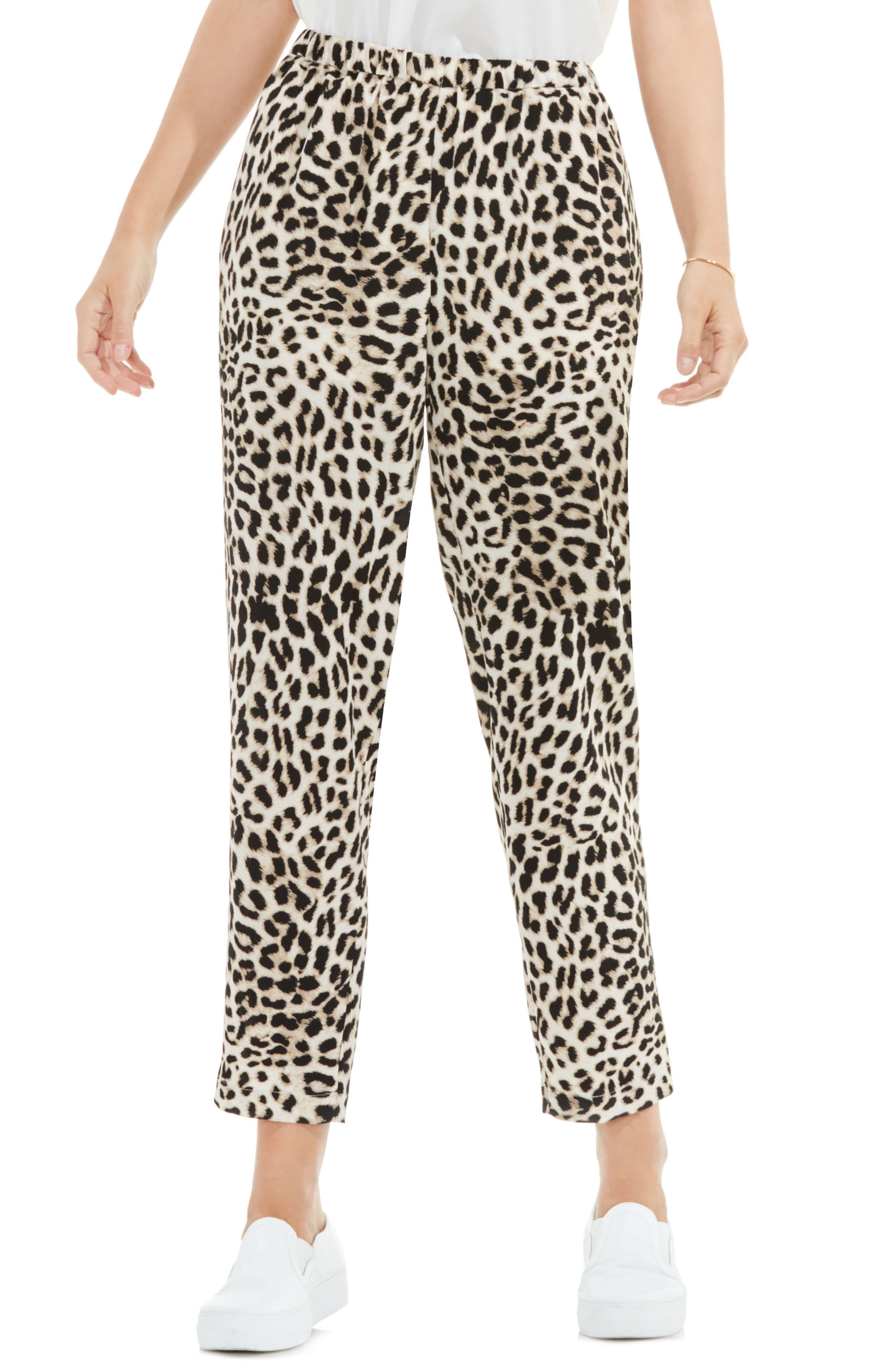 Vince Camuto Leopard Song Pull-On Slim Leg Pants