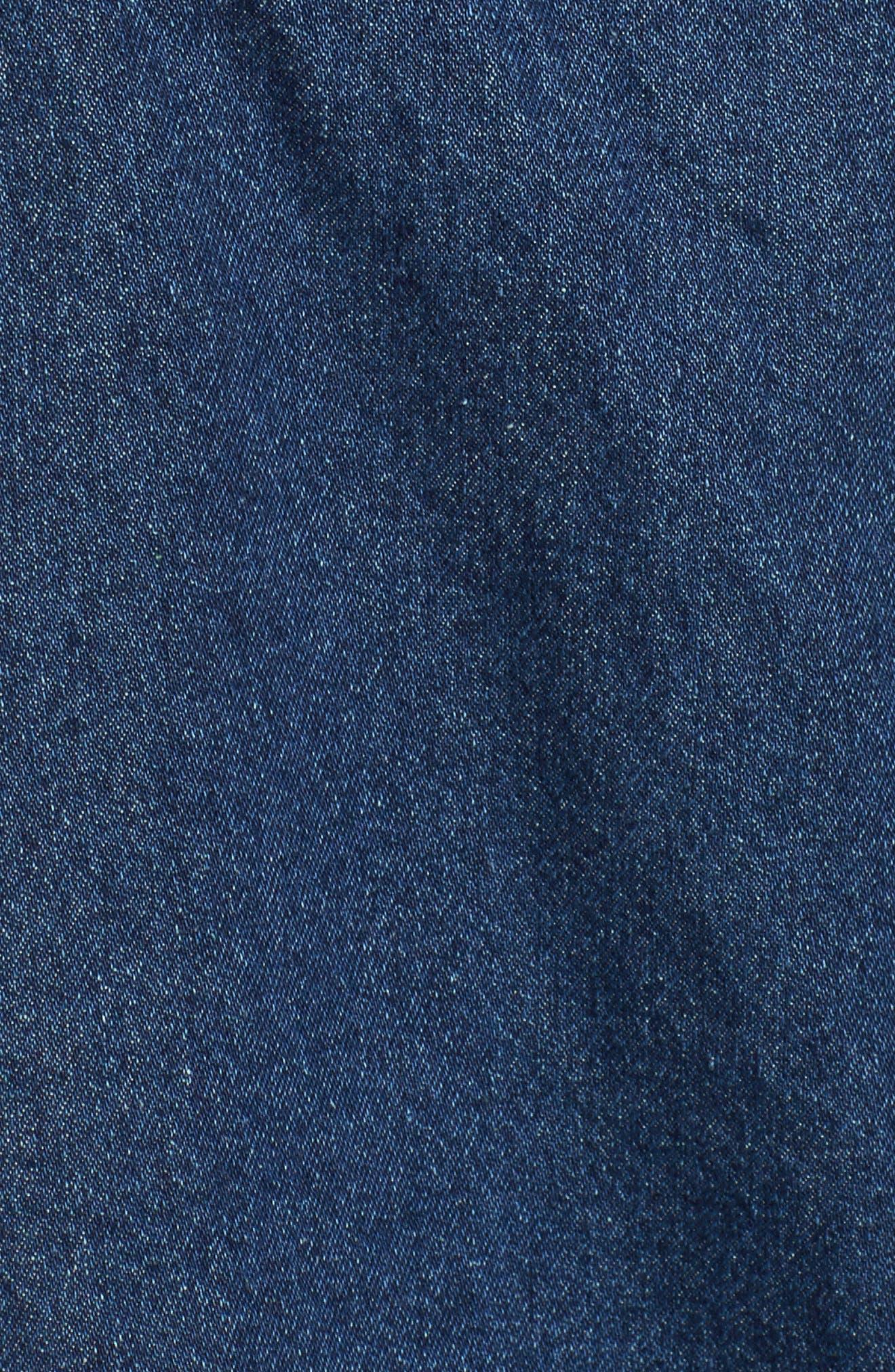 Alternate Image 5  - J.O.A. Strapless Crop Denim Jumpsuit