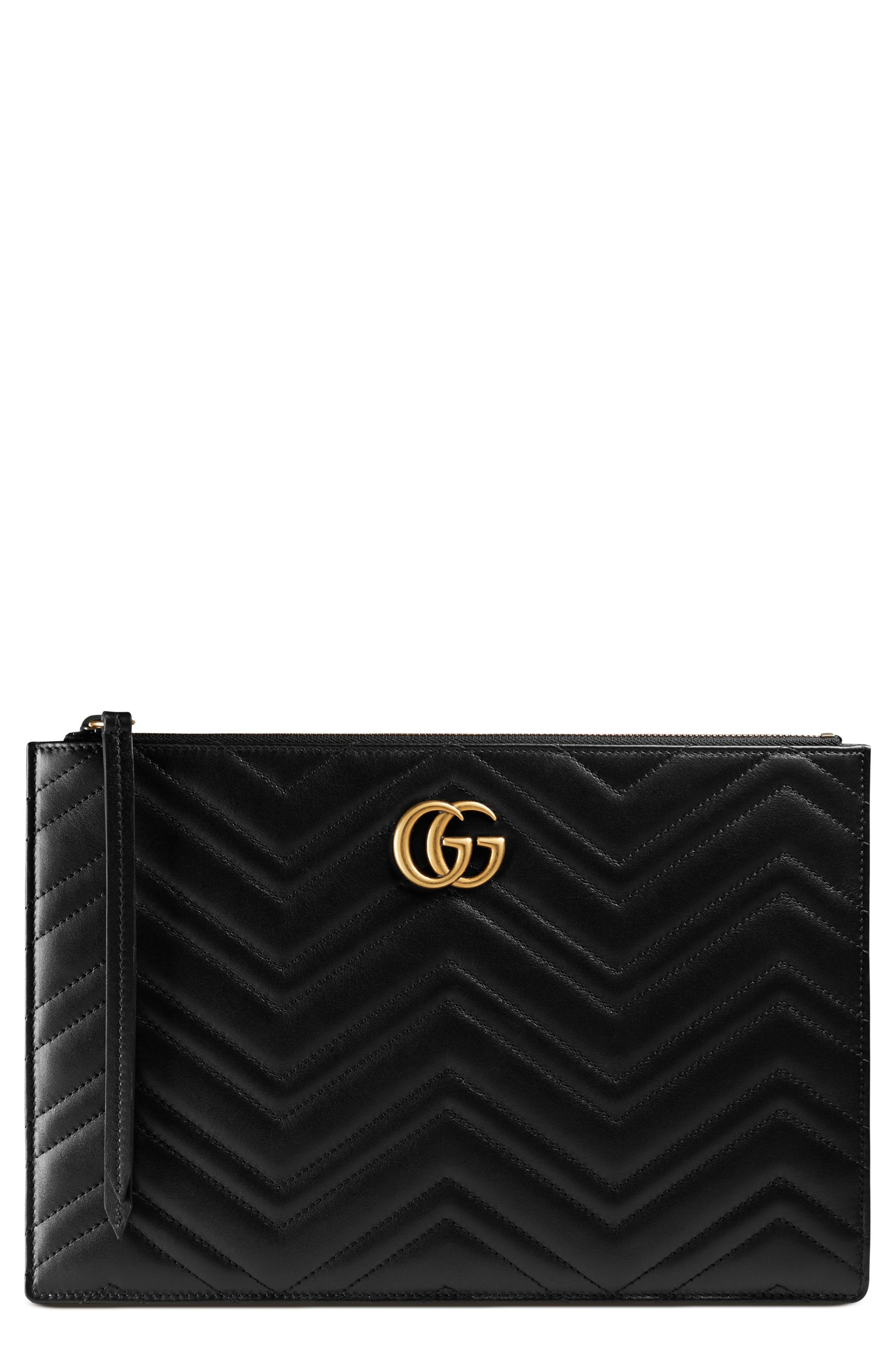 Alternate Image 1 Selected - Gucci GG Marmont Matelassé Leather Pouch