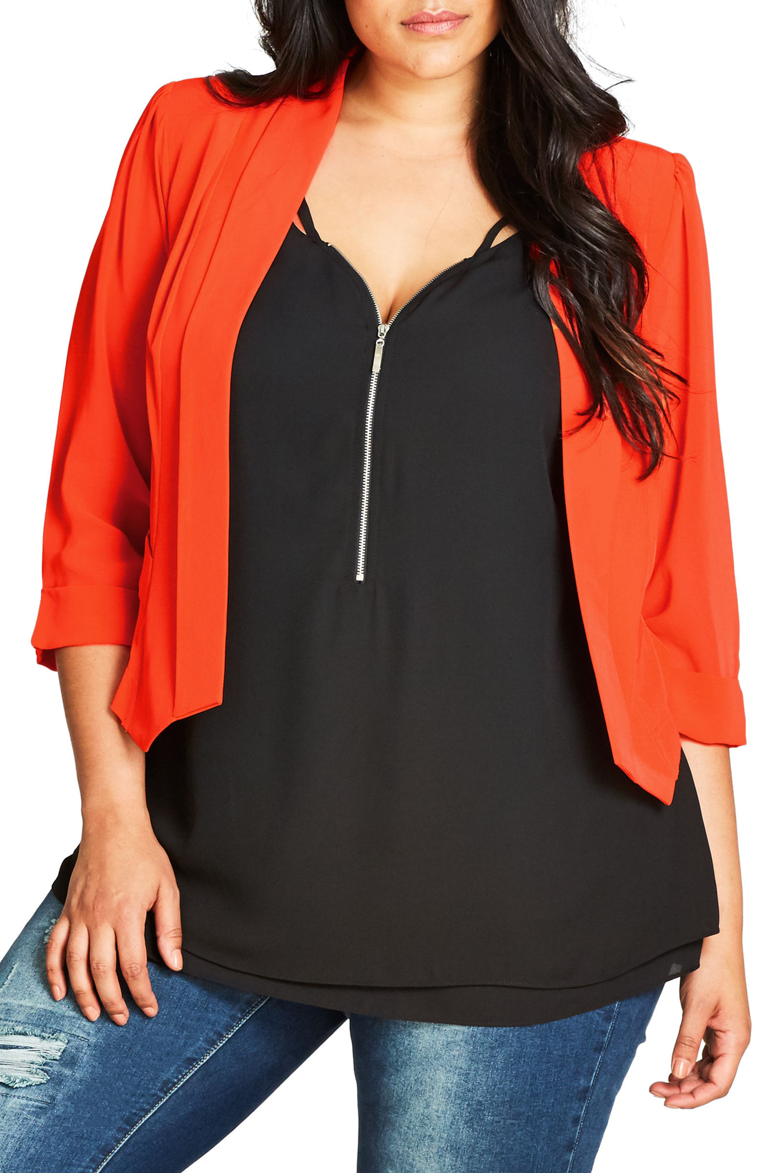 City Chic Crop Blazer (Plus Size)
