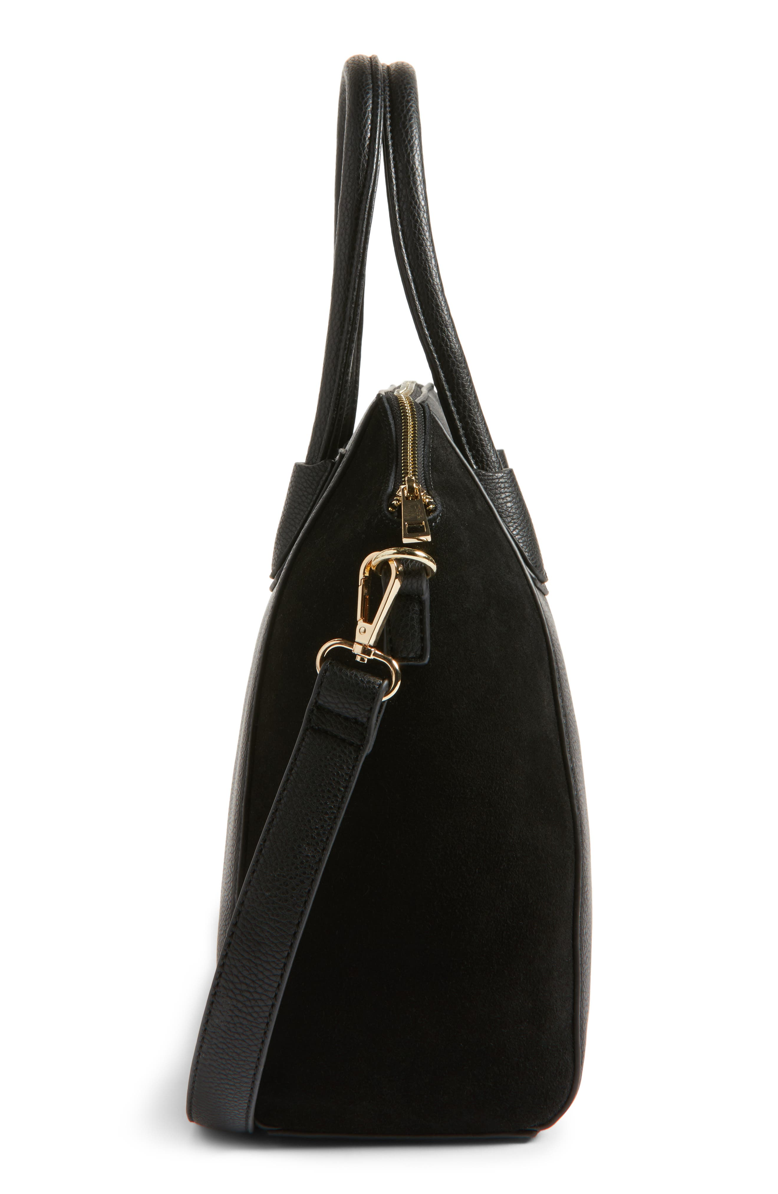 Alternate Image 5  - Sole Society Mikayla Faux Leather & Suede Satchel