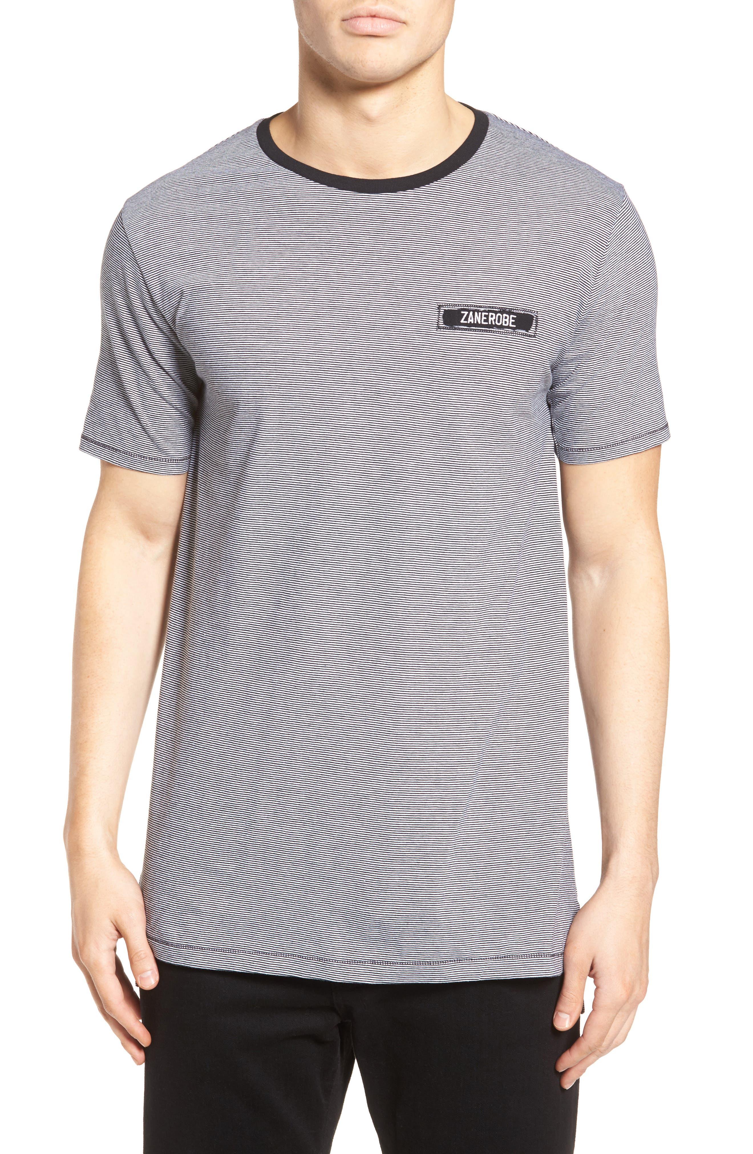 ZANEROBE Flintock Longline Stripe T-Shirt