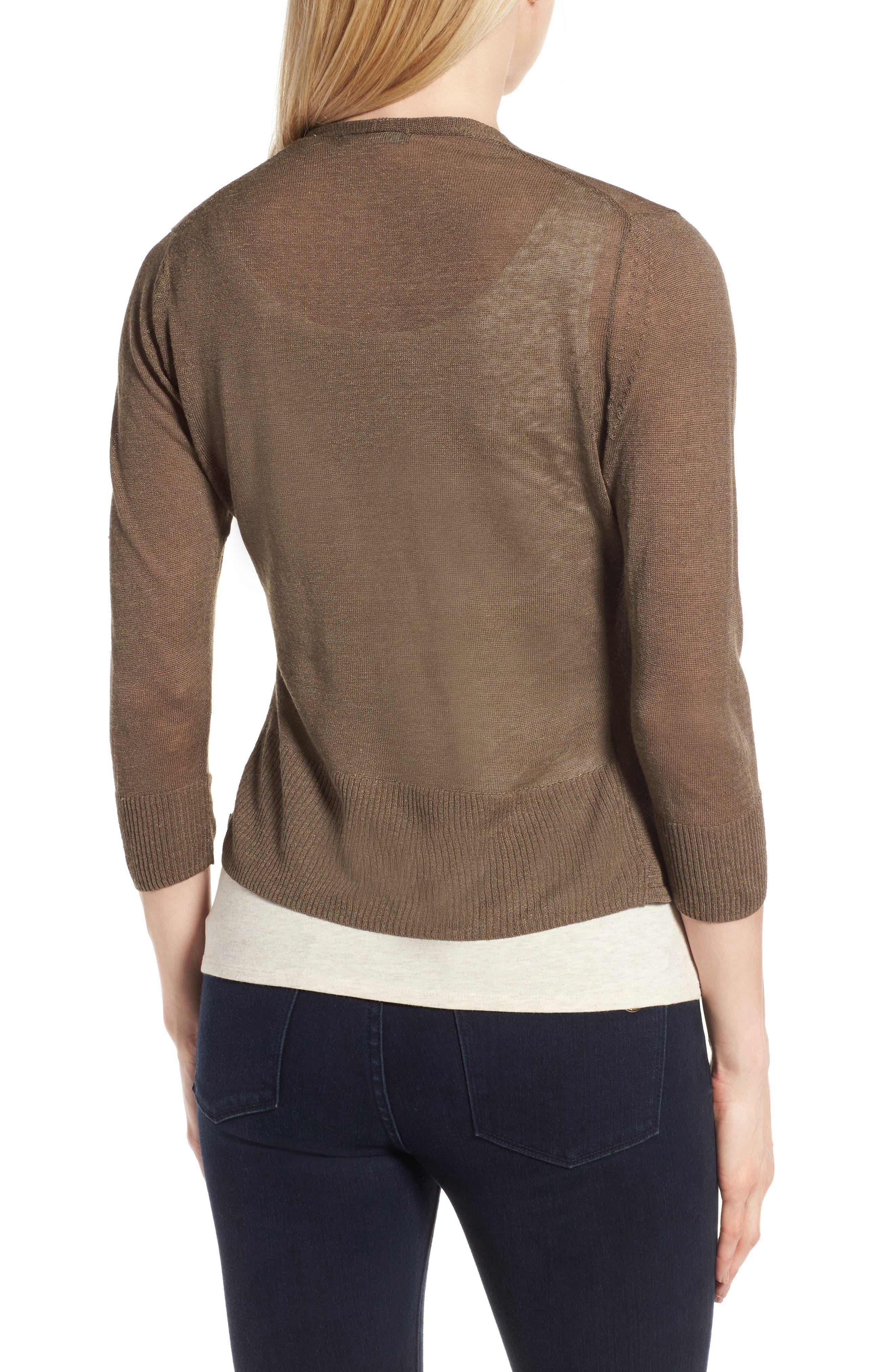 Alternate Image 2  - NIC+ZOE '4-Way' Convertible Three Quarter Sleeve Cardigan (Regular and Petite)