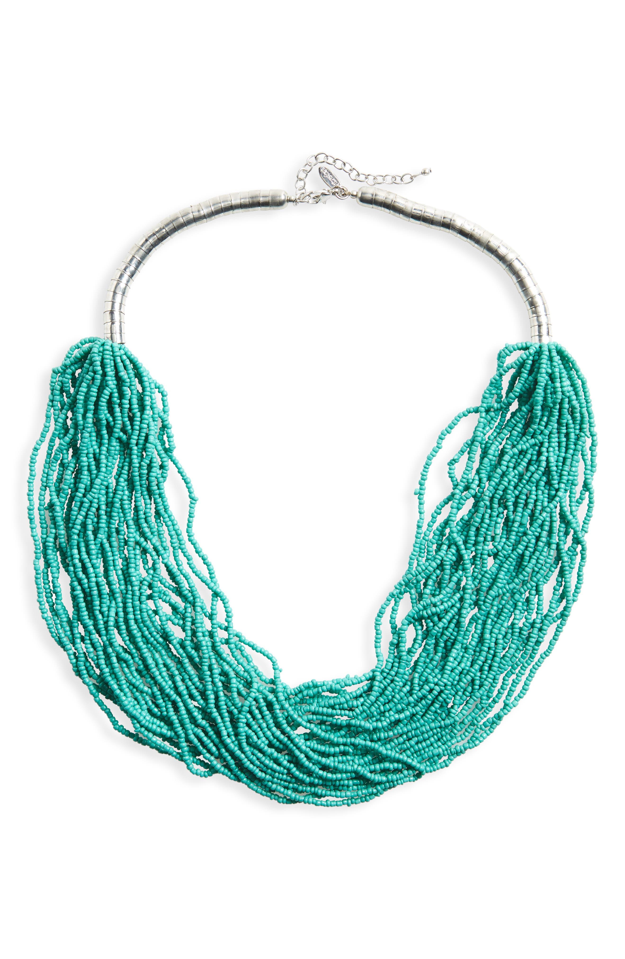 Main Image - Natasha Beaded Multistrand Necklace