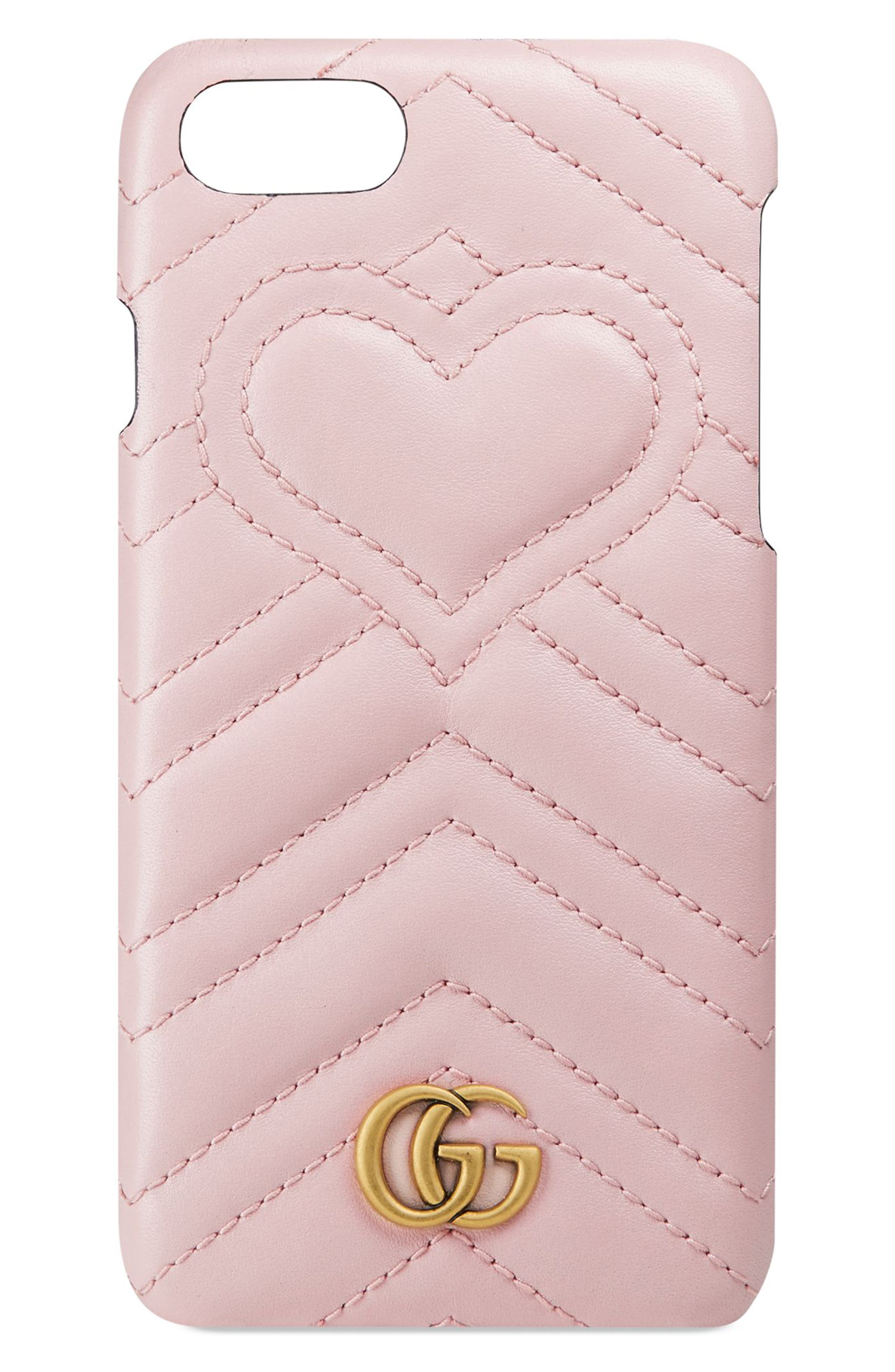 Alternate Image 1 Selected - Gucci GG Marmont Leather iPhone 7 Case