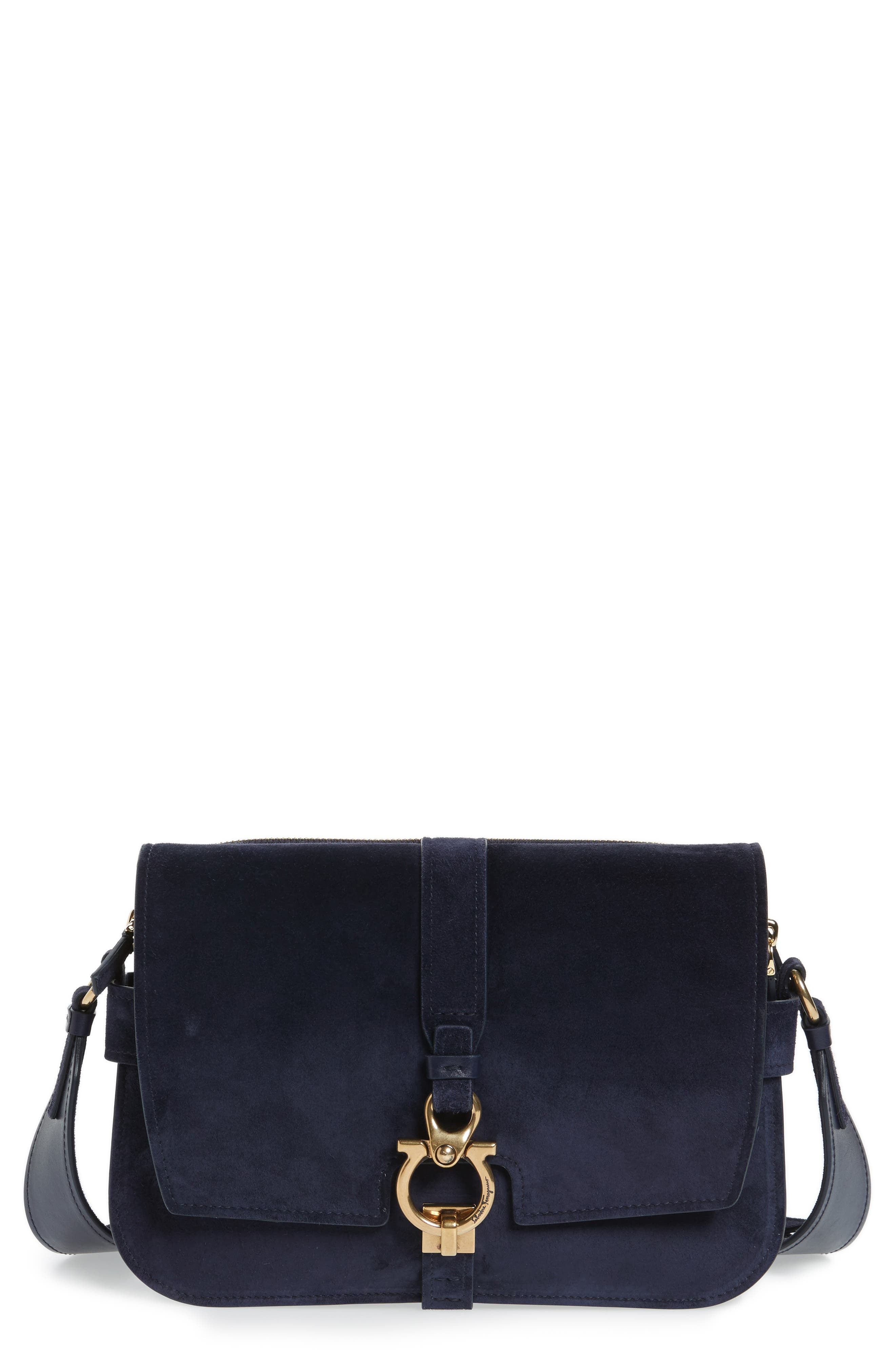 Salvatore Ferragamo Suede Crossbody Bag