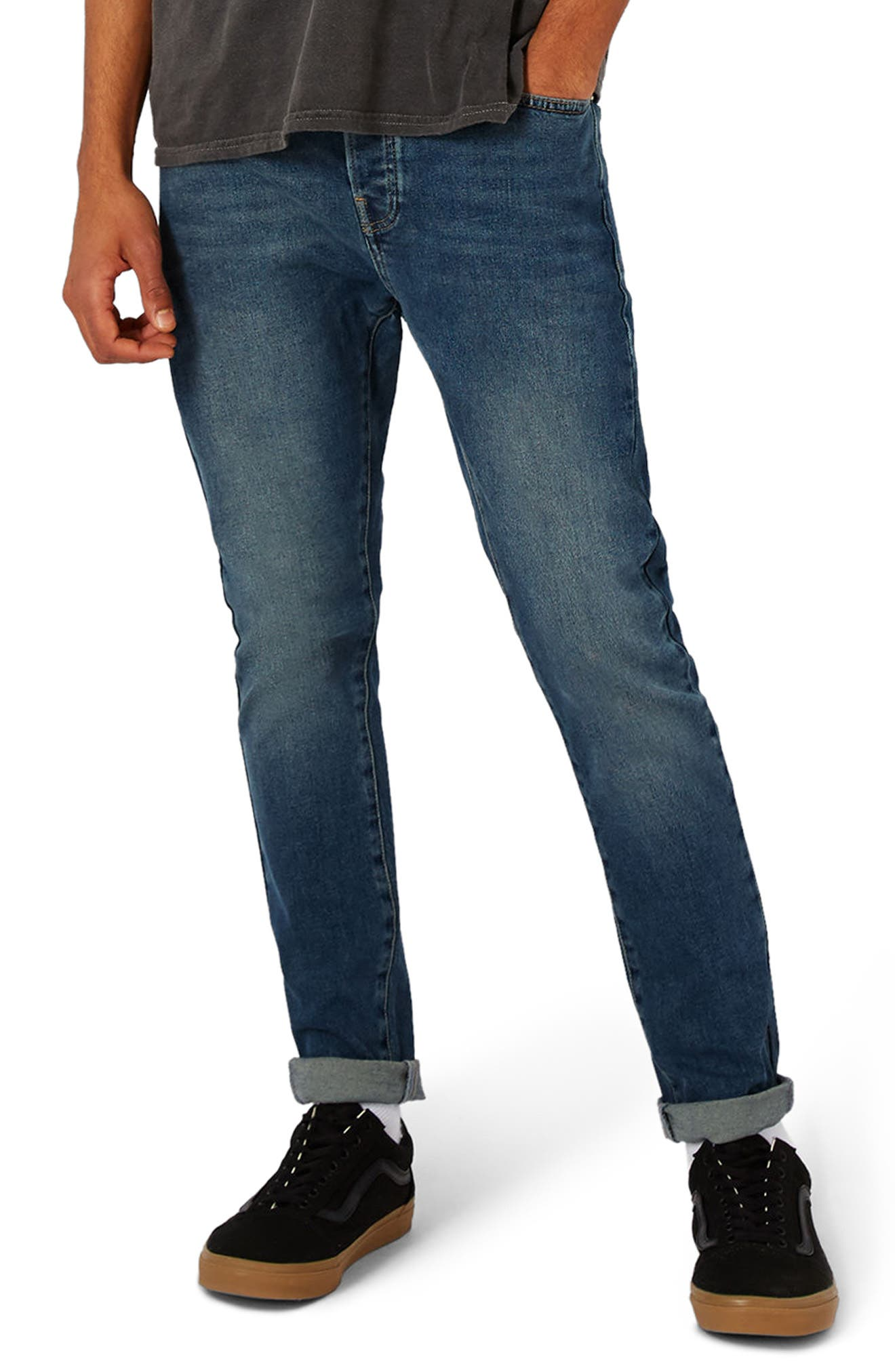 Topman Stretch Tapered Fit Jeans