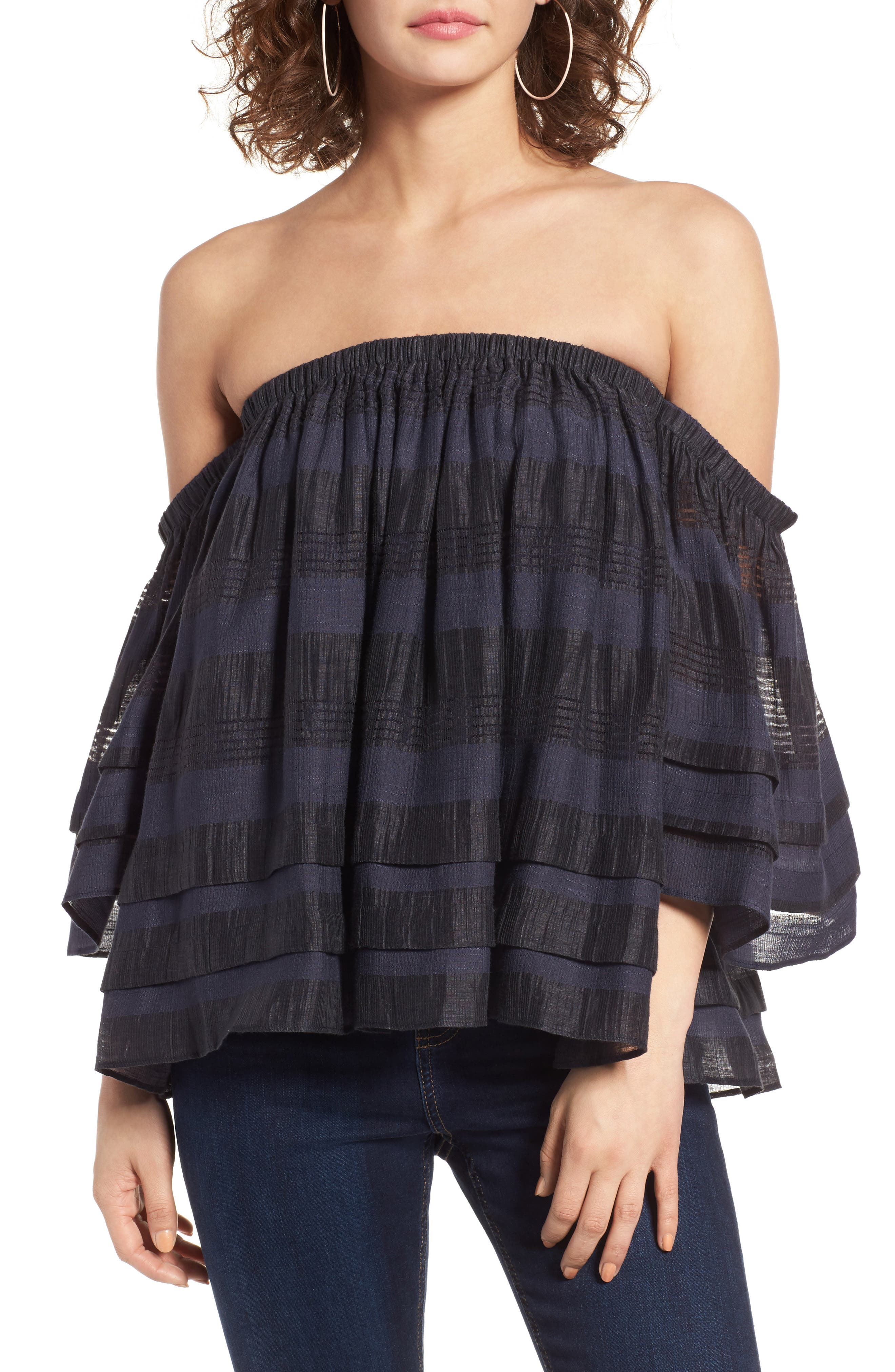 Alternate Image 1 Selected - J.O.A. Tiered Off the Shoulder Top