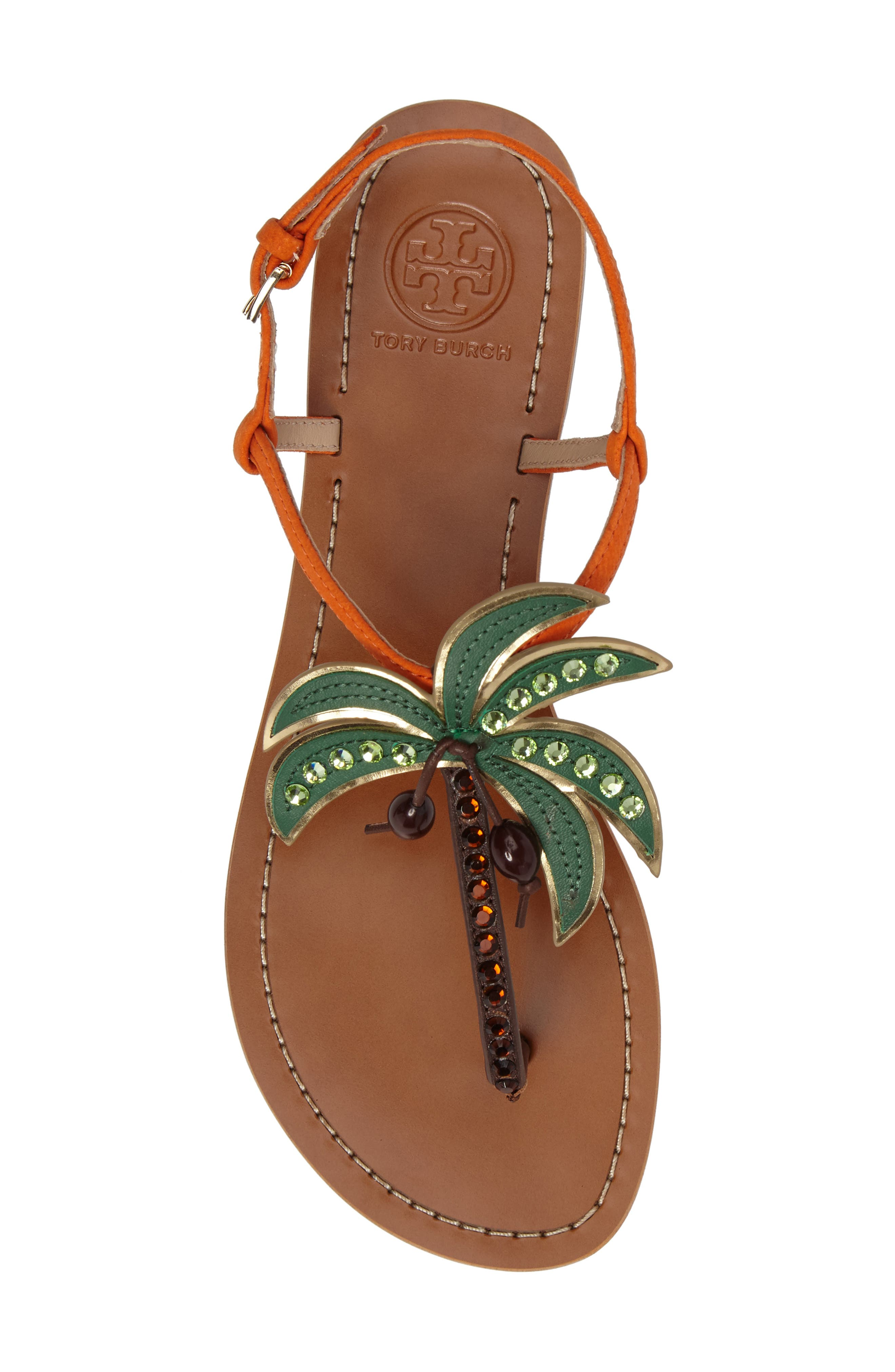 Alternate Image 5  - Tory Burch Castaway Embellished Palm Tree Sandal (Women)