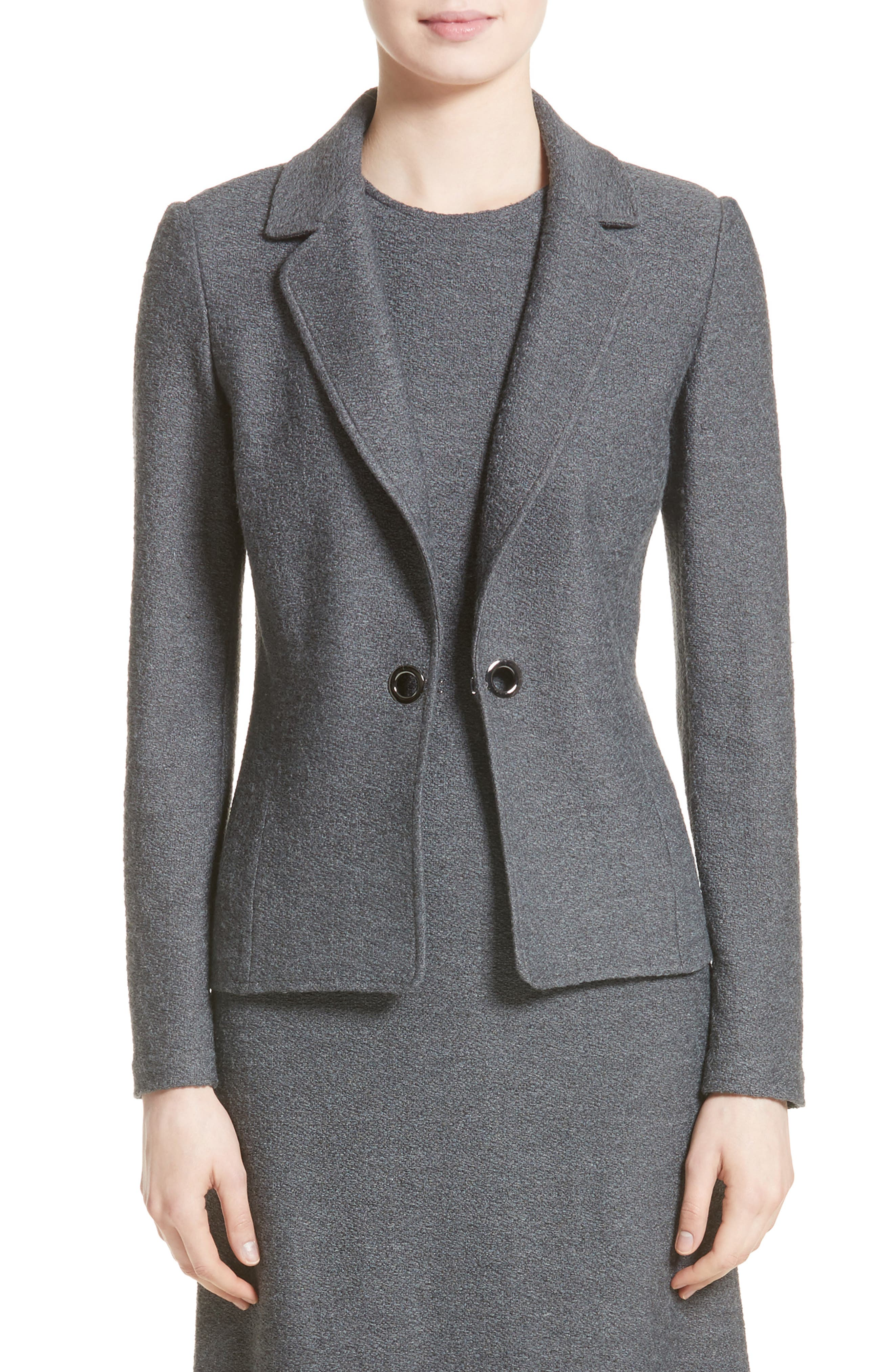 St. John Collection Clair Grommet Detail Knit Jacket